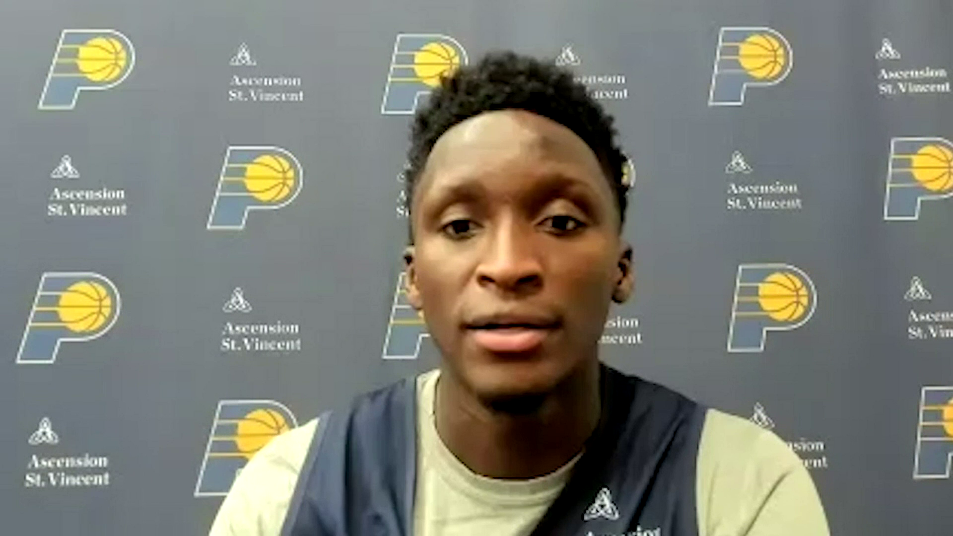 Oladipo Feeling and Looking Good in Camp