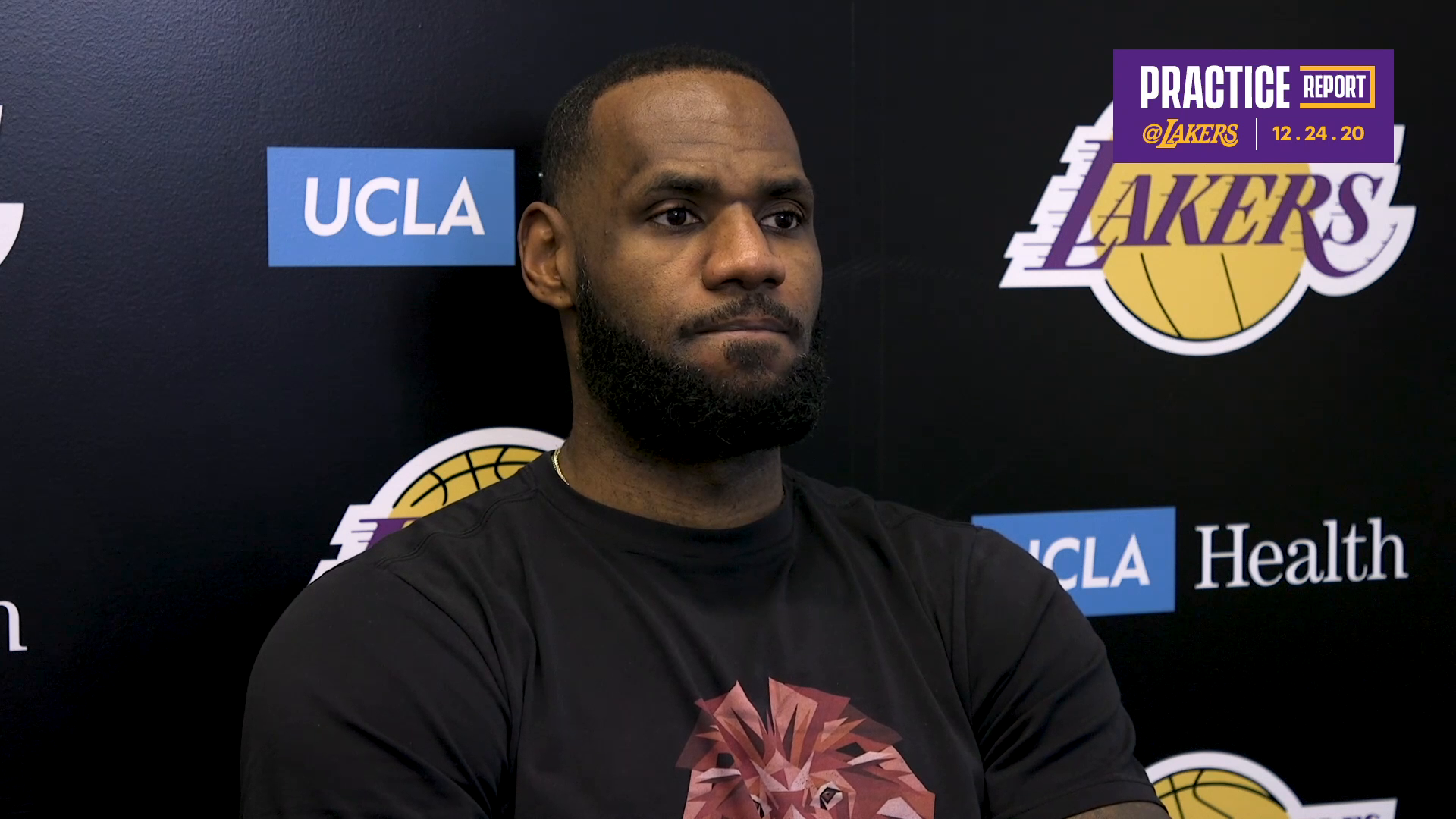 Practice Report: LeBron James (12/24/20)