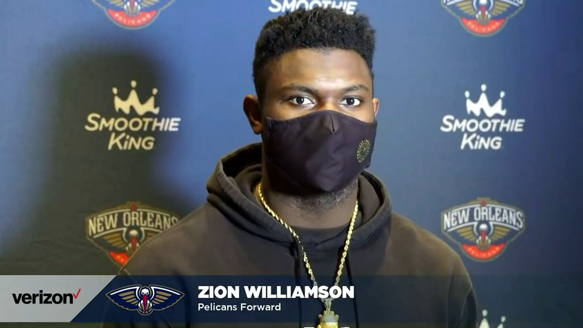 Pelicans-Hornets Postgame Interview: Zion Williamson 1-8-21