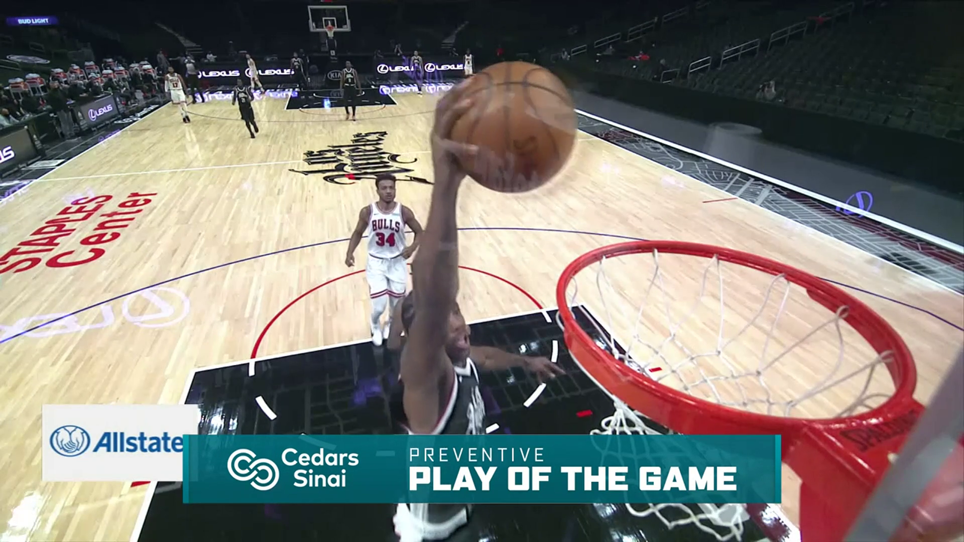 Cedars-Sinai Preventive Play of the Game | Clippers vs Bulls (1.10.21)