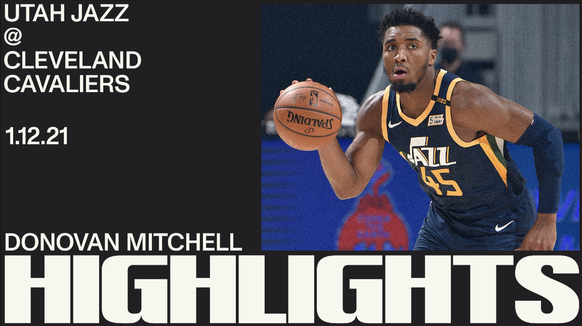Highlights: Donovan Mitchell—27 points, 5 3PM