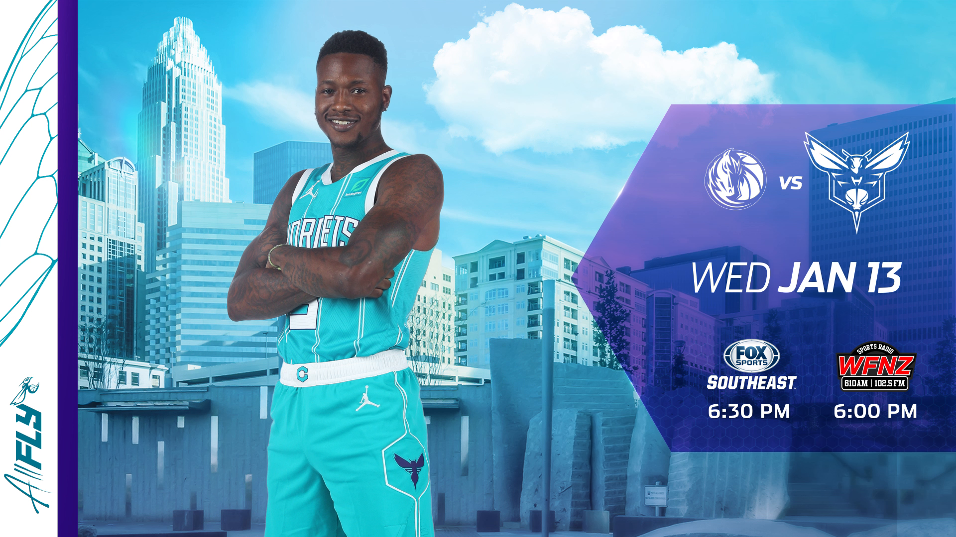 Tune In: Rozier Heating Up as Hornets Ready to Host Mavs
