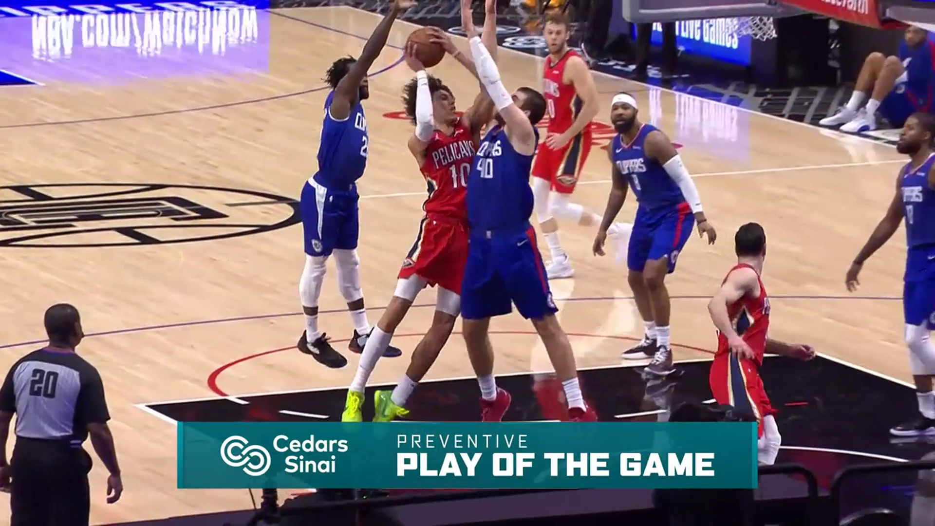 Cedars-Sinai Preventive Play of the Game | Clippers vs Pelicans (1.13.21)