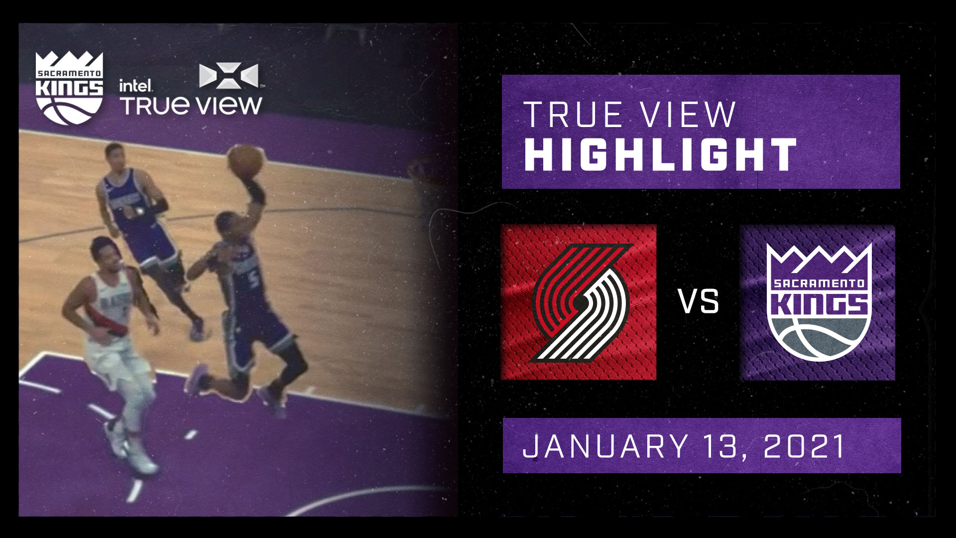 Intel True View Highlight - Ty Haliburton Steal and Assist vs Portland 1.13.21