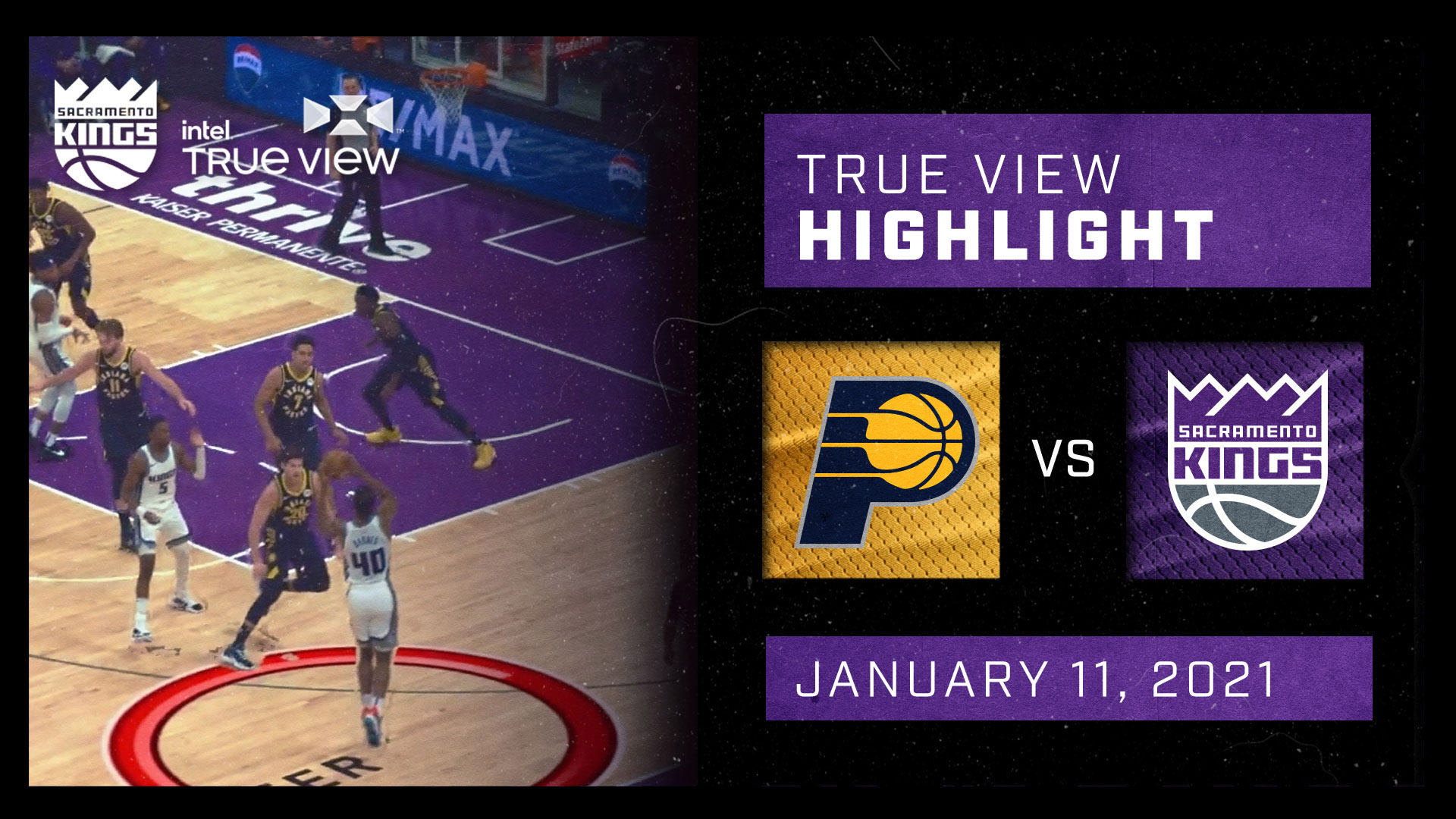 Intel True View Highlight - Barnes Dunk vs Pacers 1.11.21
