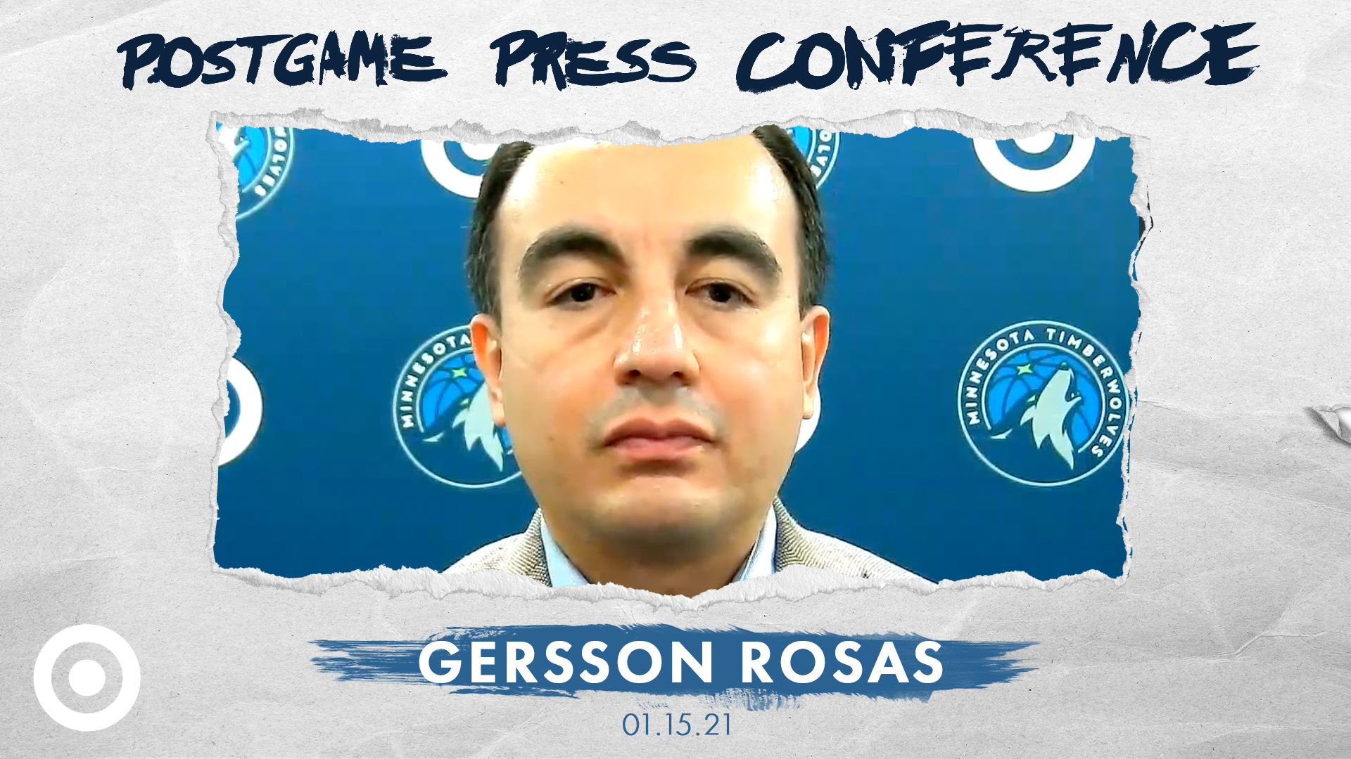 Gersson Rosas Game Postponement Press Conference - January 15, 2021