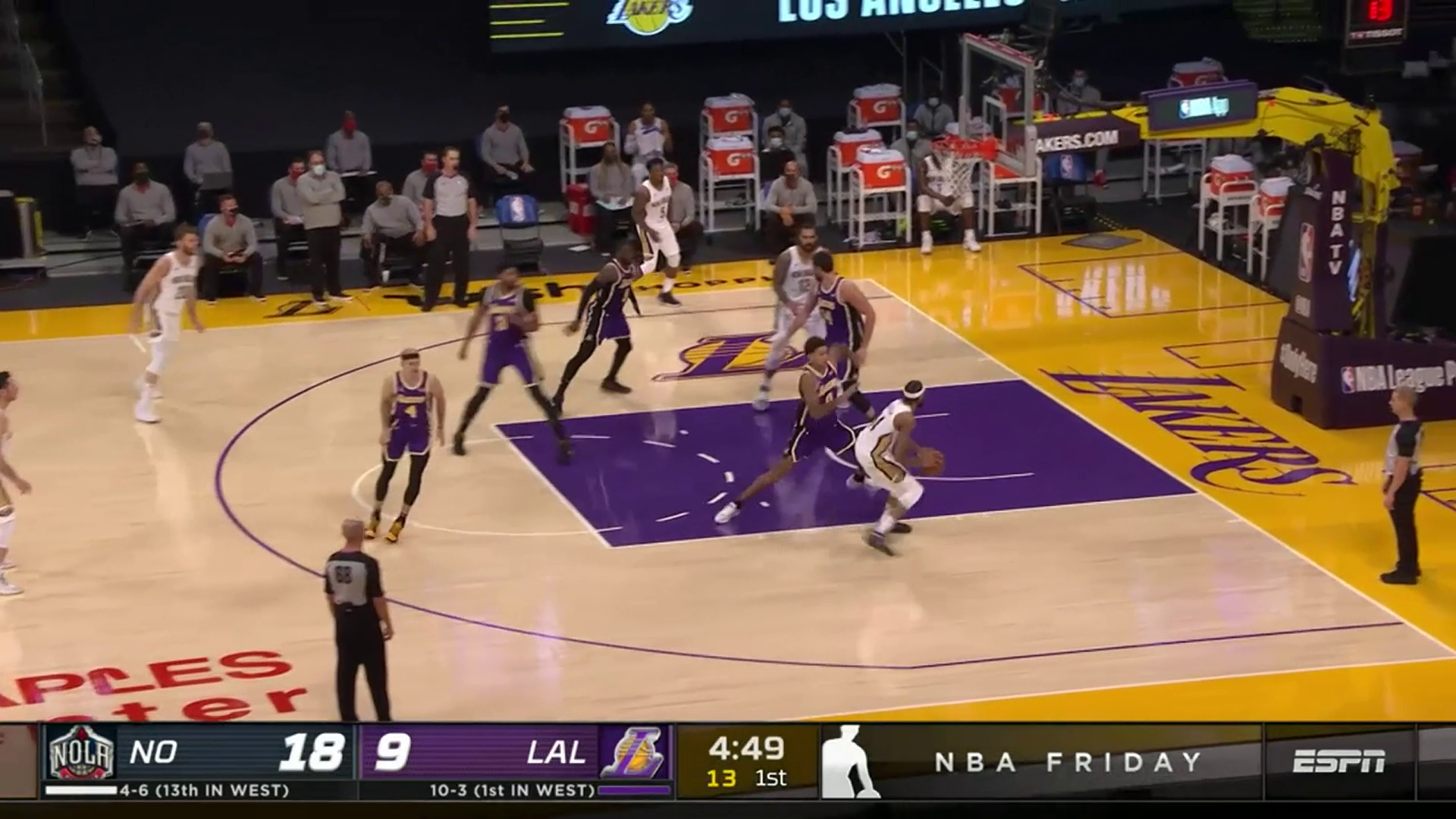 Pelicans-Lakers Highlights: Brandon Ingram spin and score