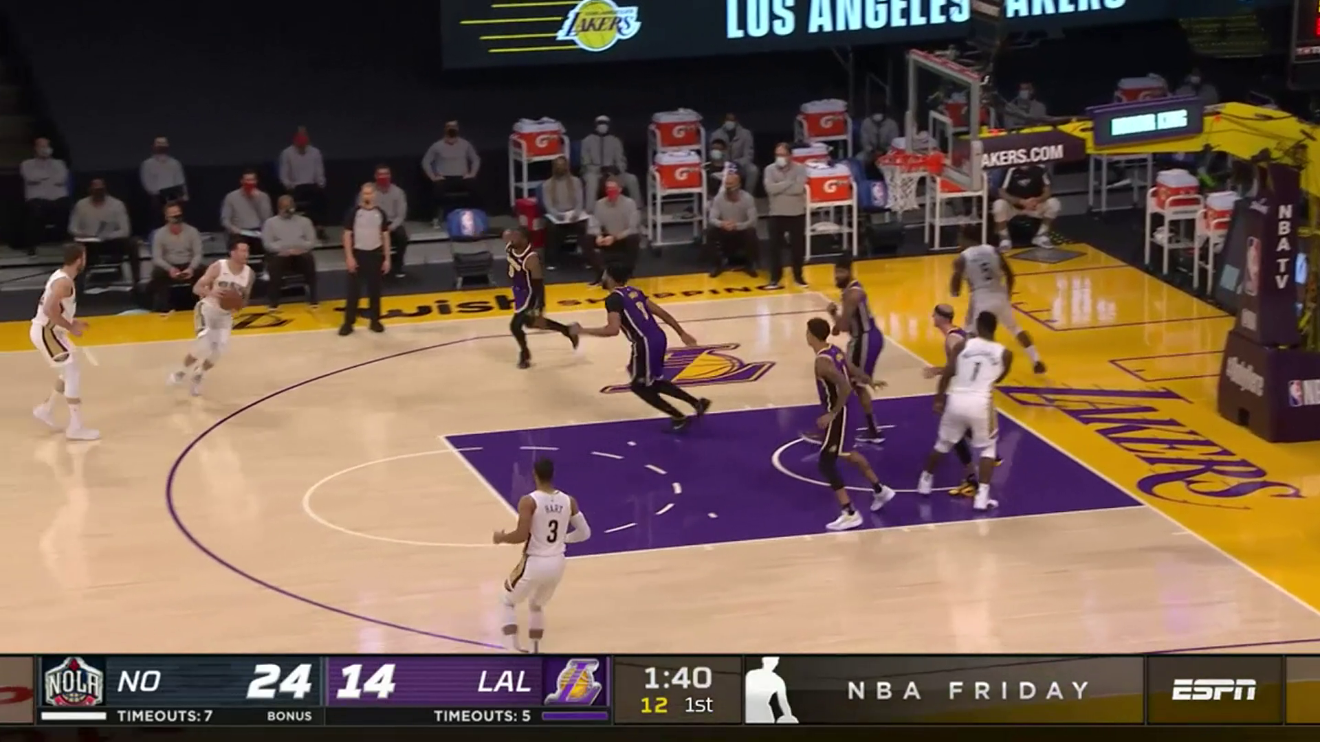 Pelicans-Lakers Highlights: JJ Redick four-point play