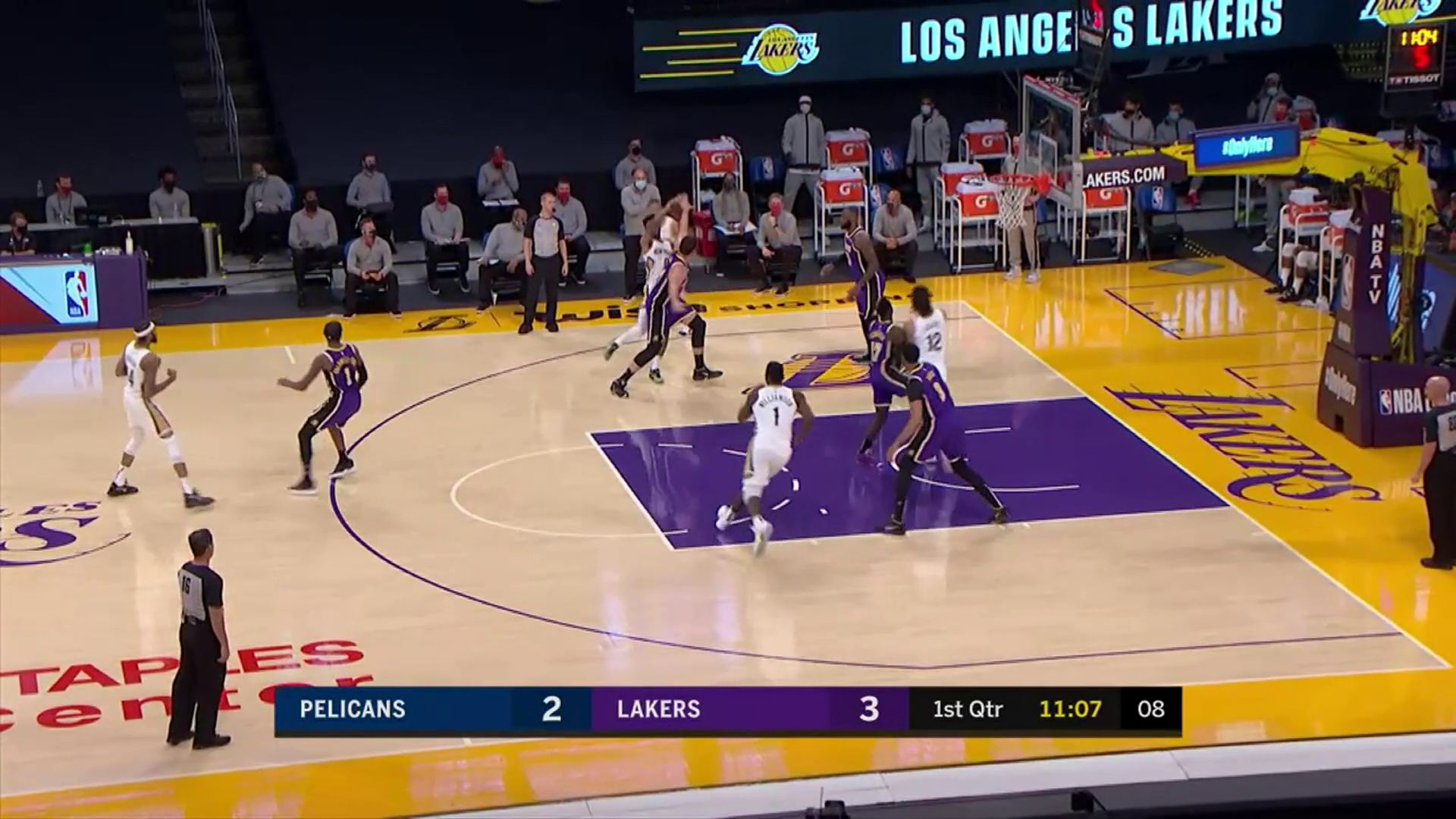 New Orleans Pelicans Highlights vs. Los Angeles Lakers