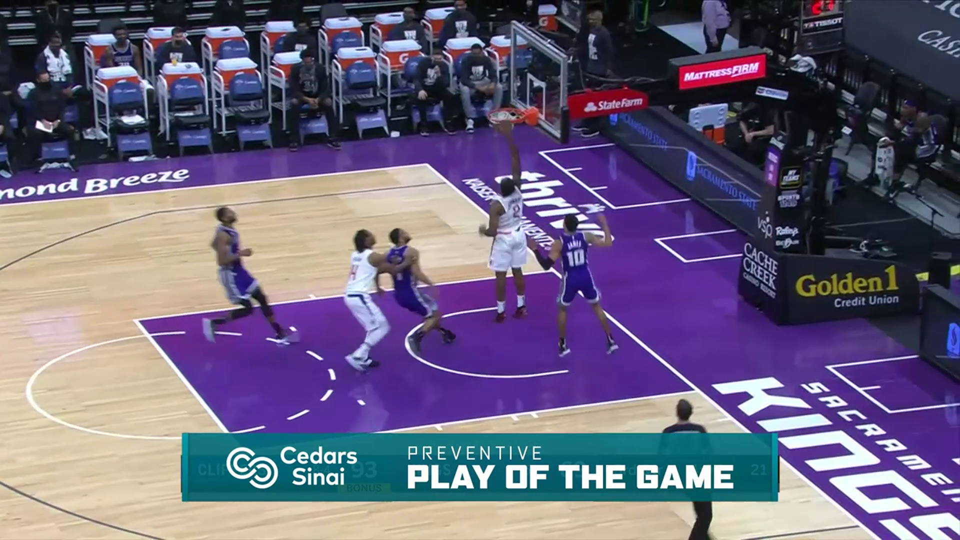 Cedars-Sinai Preventive Play of the Game | Clippers vs Kings (1.15.21)
