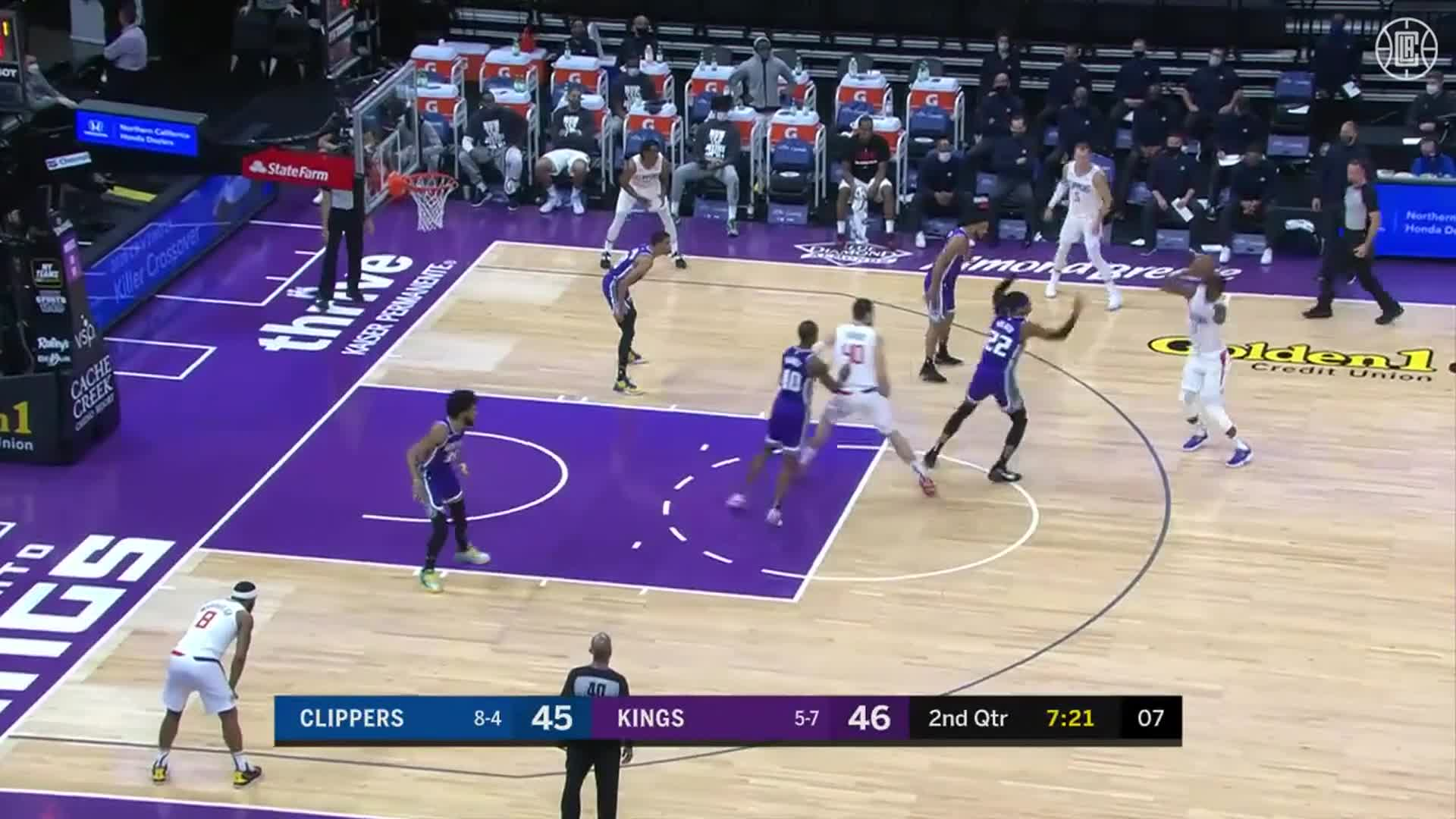 Clippers First-Half Threes vs Kings | (1.15.21)