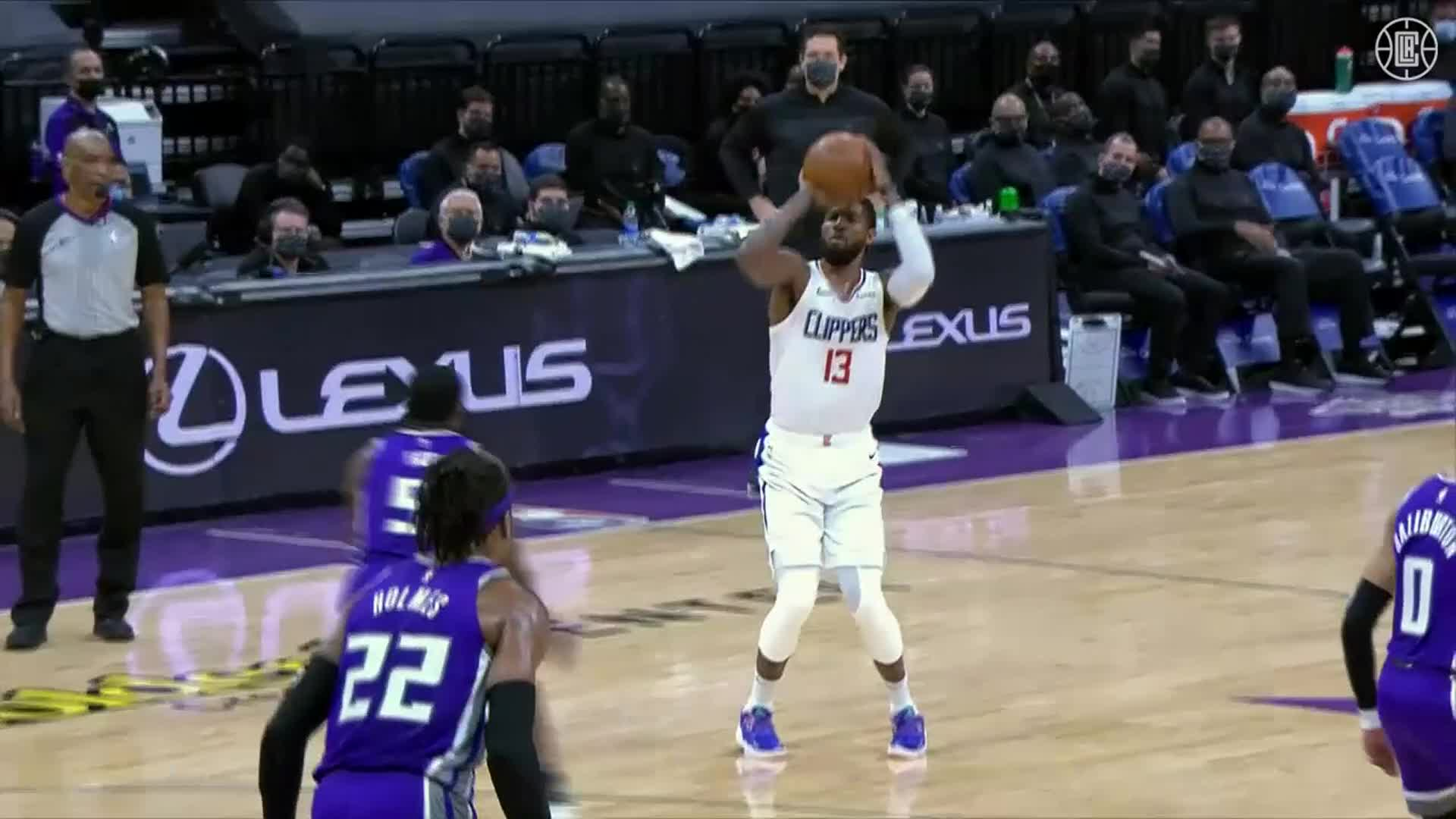 Paul George 26 Pts, 4-8 Threes, 4 Reb vs Kings | (1.15.21)