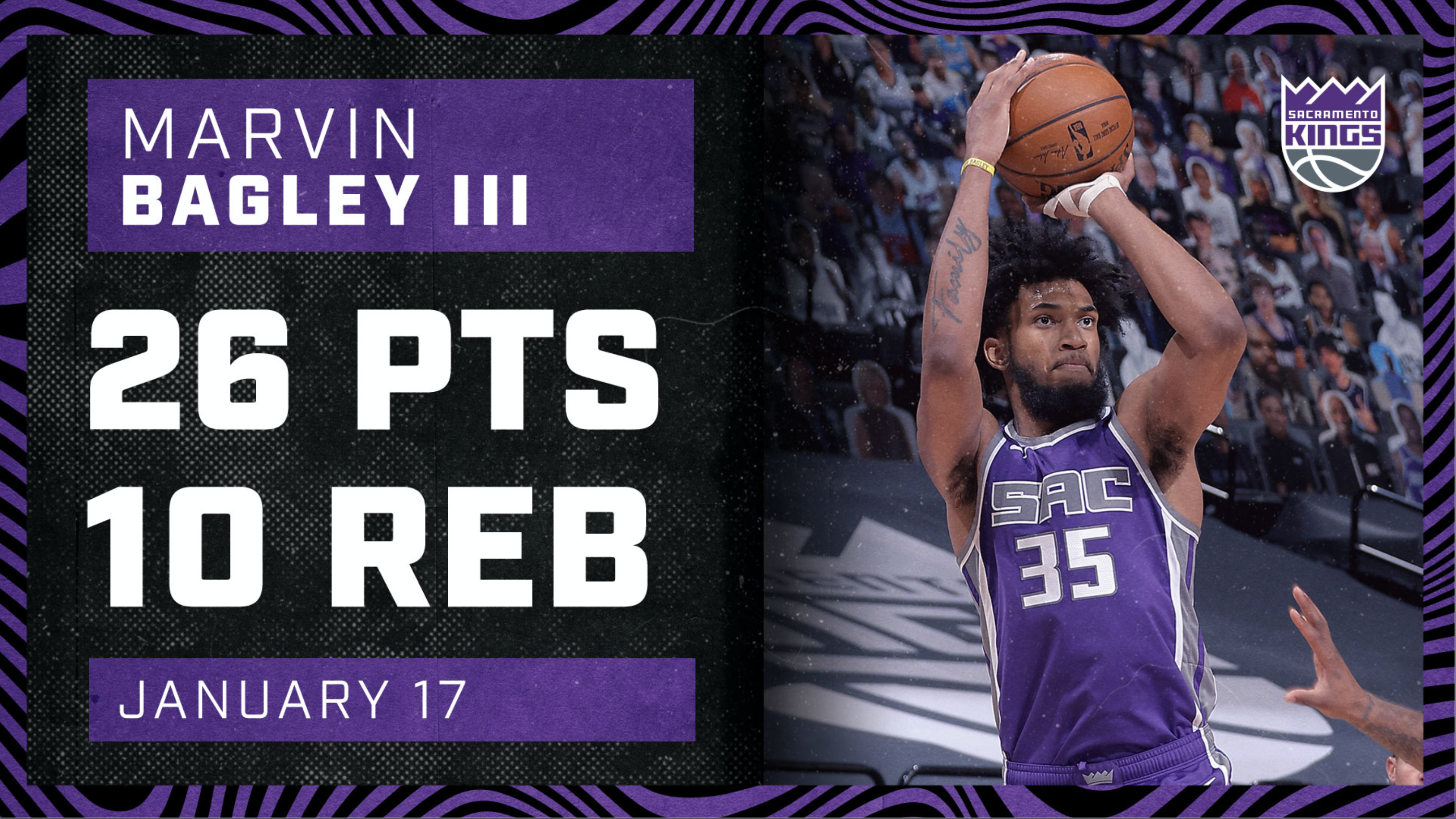 Marvin Bagley Secures a SOLID Double-Double | Kings vs Pelicans 1.17.20