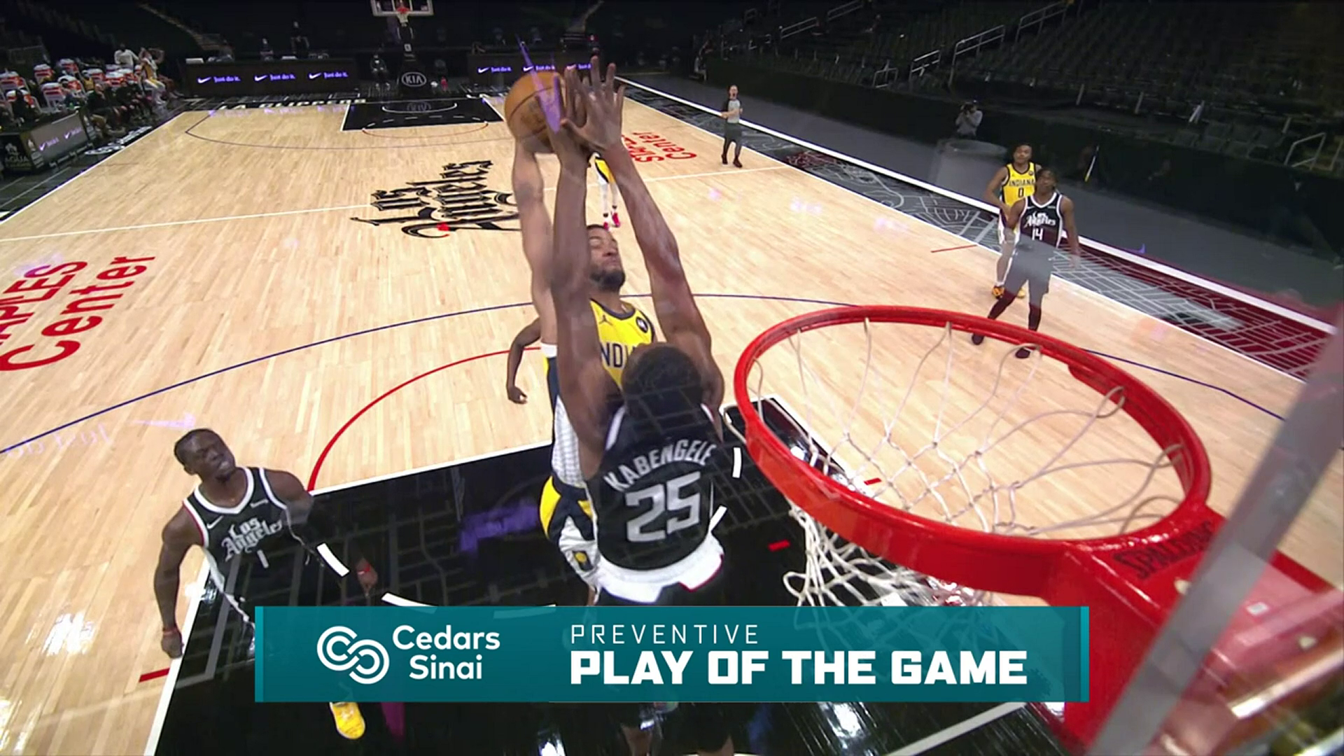 Cedars-Sinai Preventive Play of the Game | Clippers vs Pacers (1.17.21)