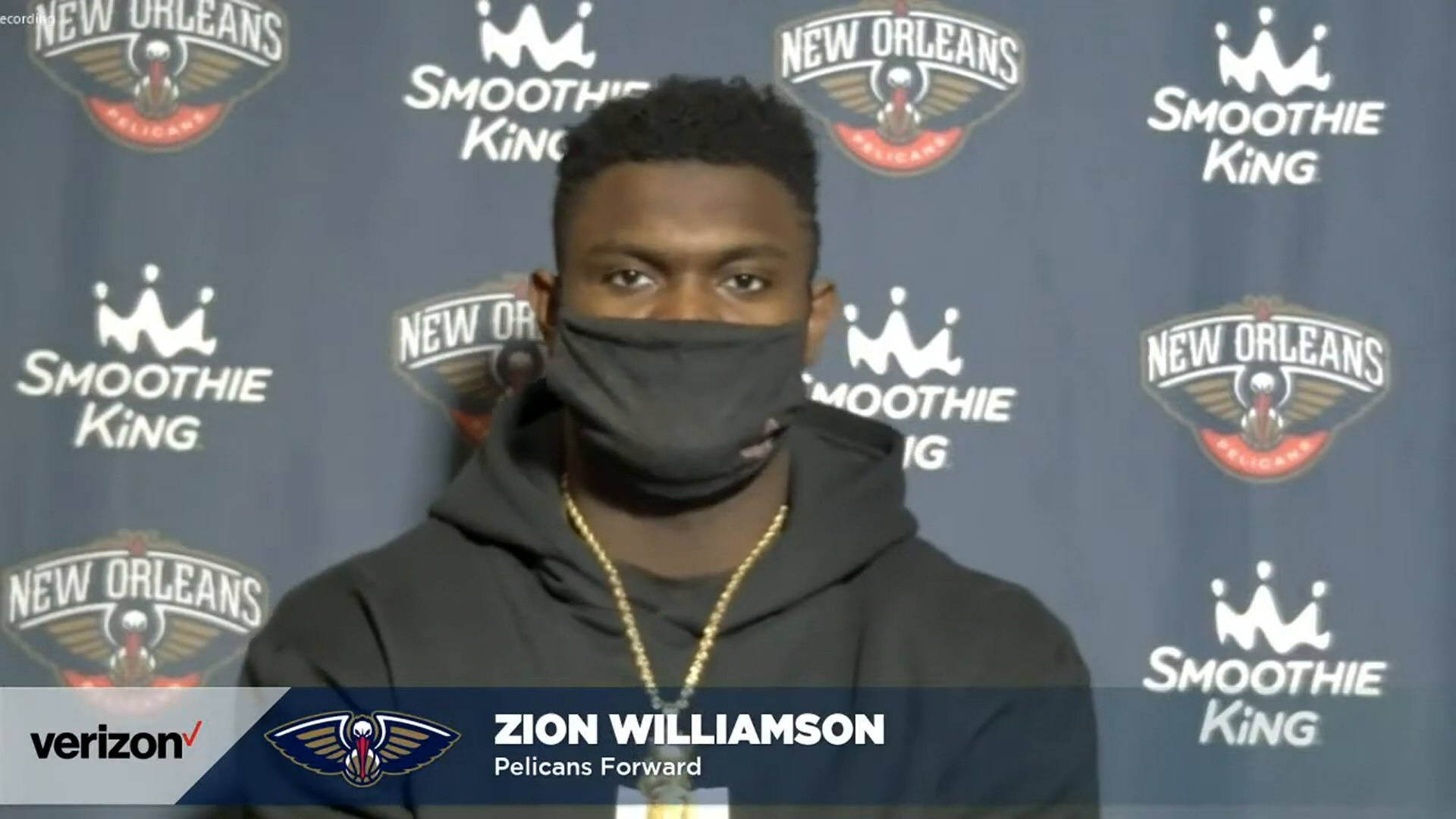 Pelicans-Kings Postgame Interview: Zion Williamson 1-7-21
