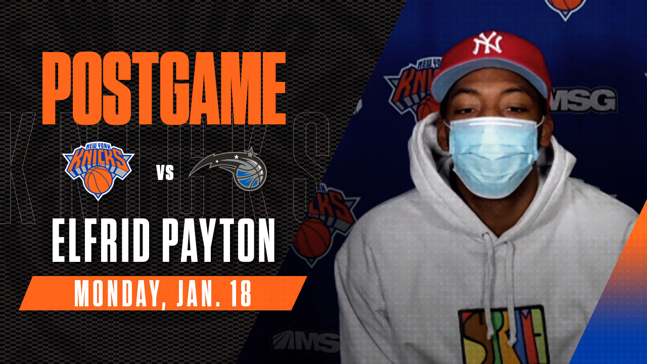 Postgame: Elfrid Payton | Knicks vs. Magic