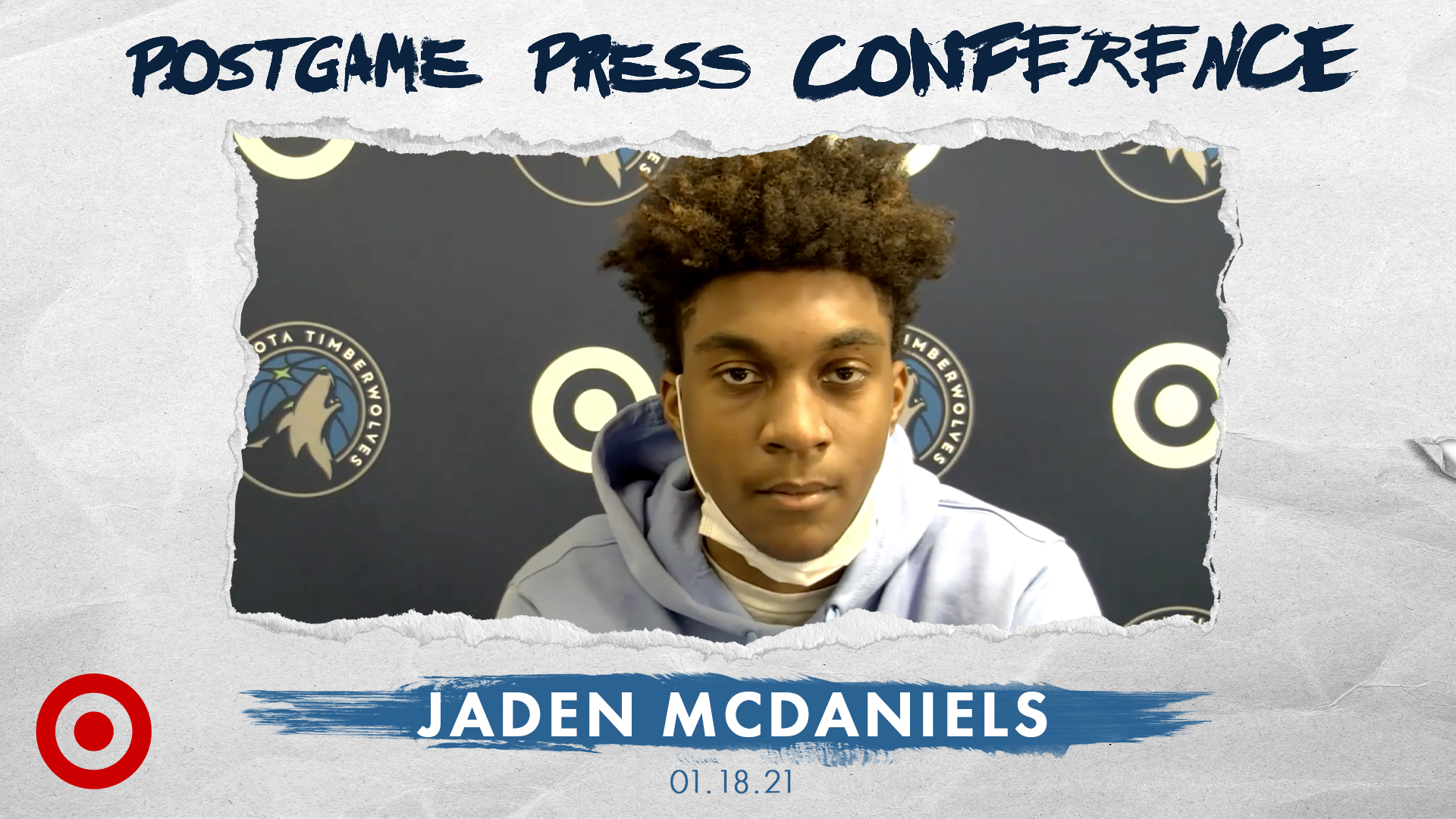 Jaden McDaniels Postgame Press Conference - January 18, 2021