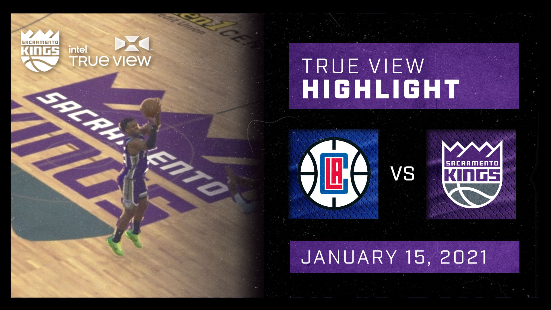 Intel True View Highlight - Hield 3-Pointer vs Clippers 1.15.21
