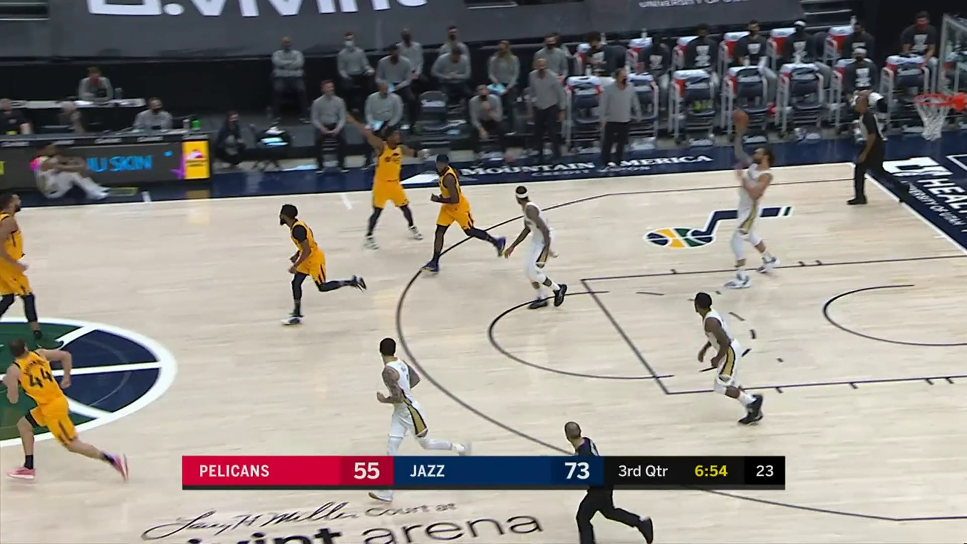 Steven Adams assist to Zion Williamson   Pelicans at Jazz Highlights
