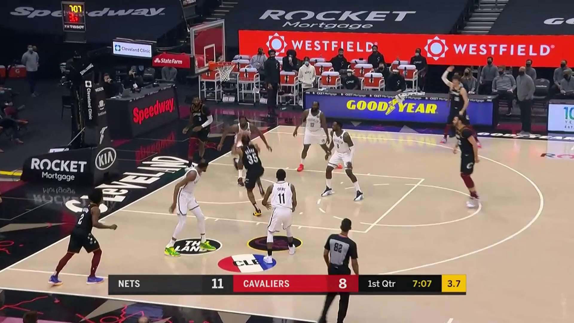 Okoro Drives and Dunks with Two-Hands