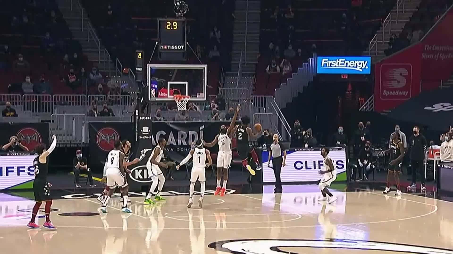 Sexton's Acrobatic Shot in the Paint