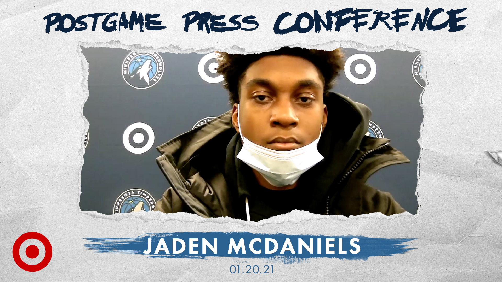 Jaden McDaniels Postgame Press Conference - January 20, 2021