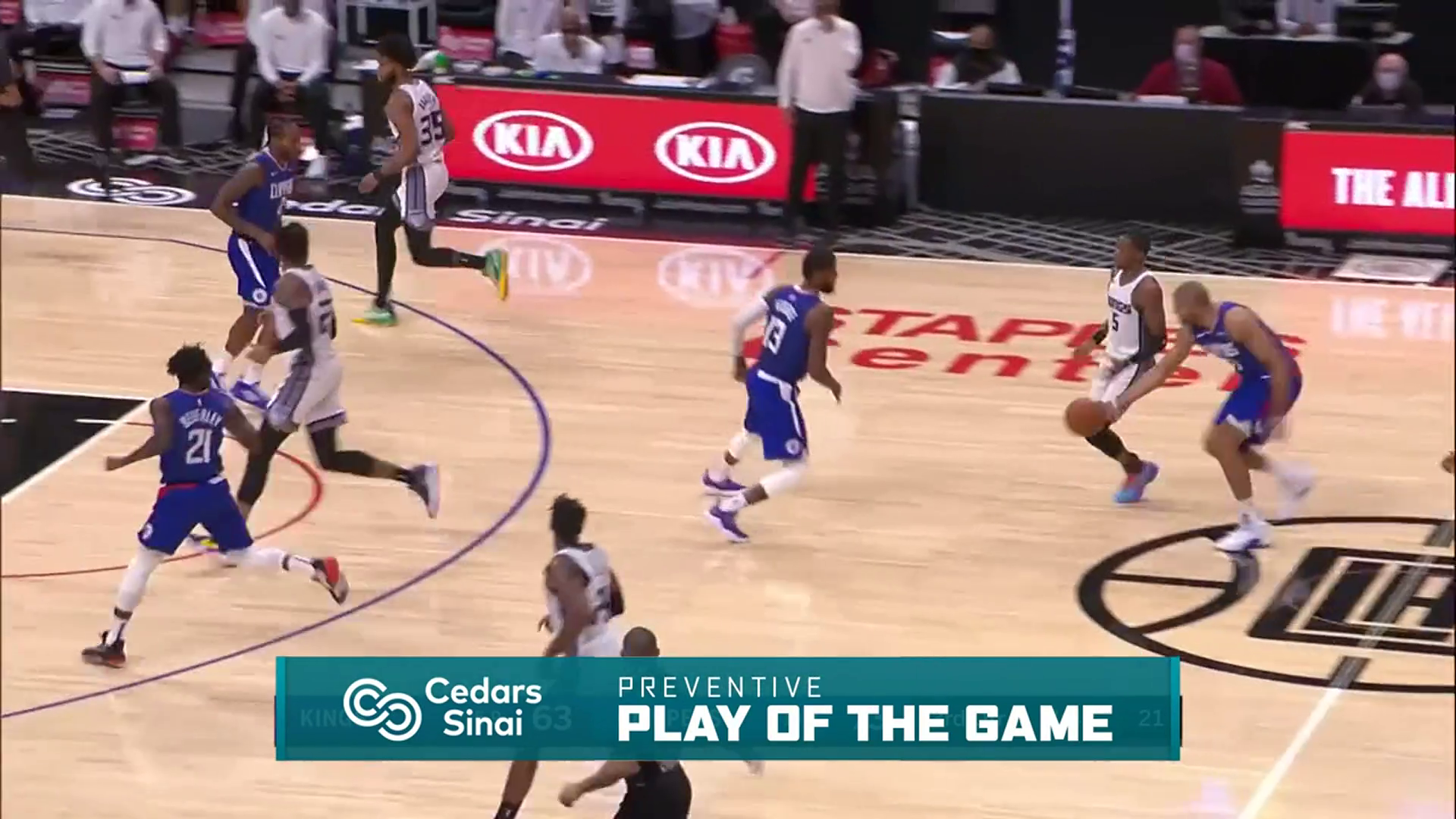 Cedars-Sinai Preventive Play of the Game | Clippers vs Kings (1.20.21)