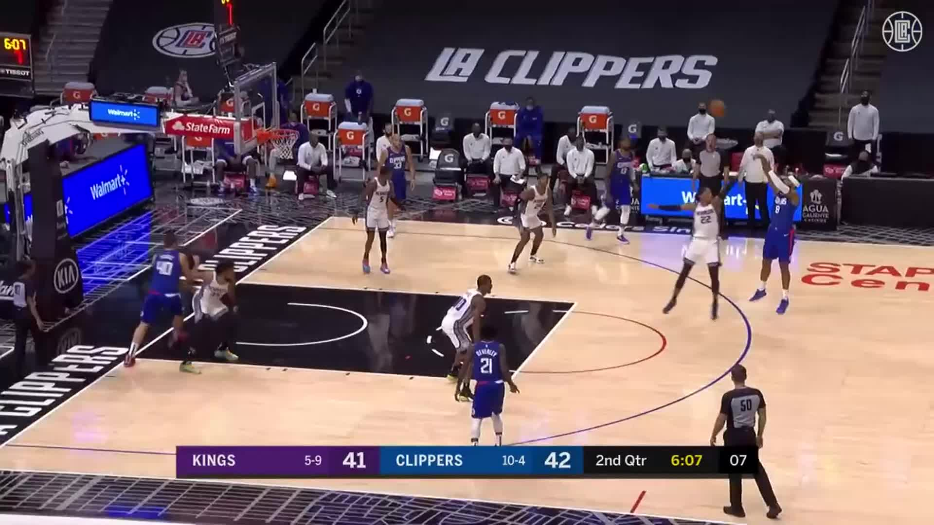 Clippers Threes vs Kings | (1.20.21)