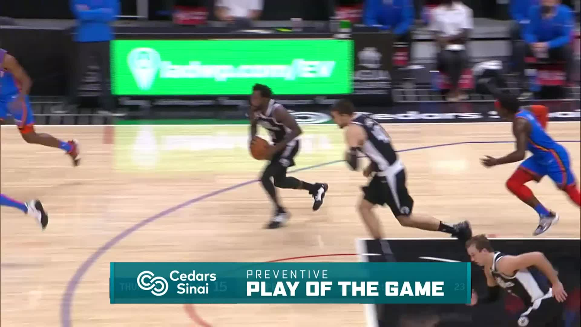 Cedars-Sinai Preventive Play of the Game | Clippers vs Thunder (1.24.21)