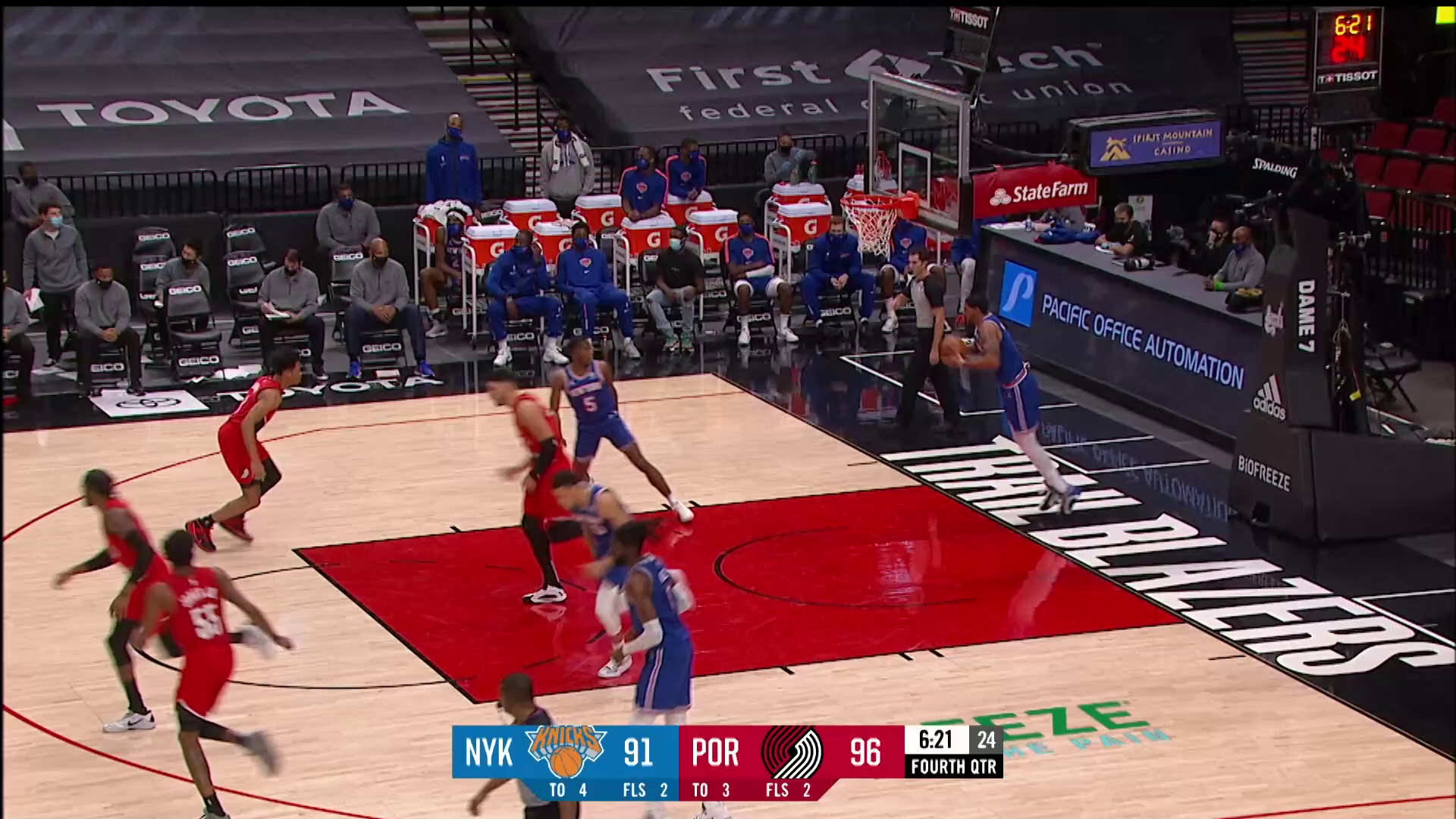 Trail Blazers 116, Knicks 113   Highlights by McDelivery