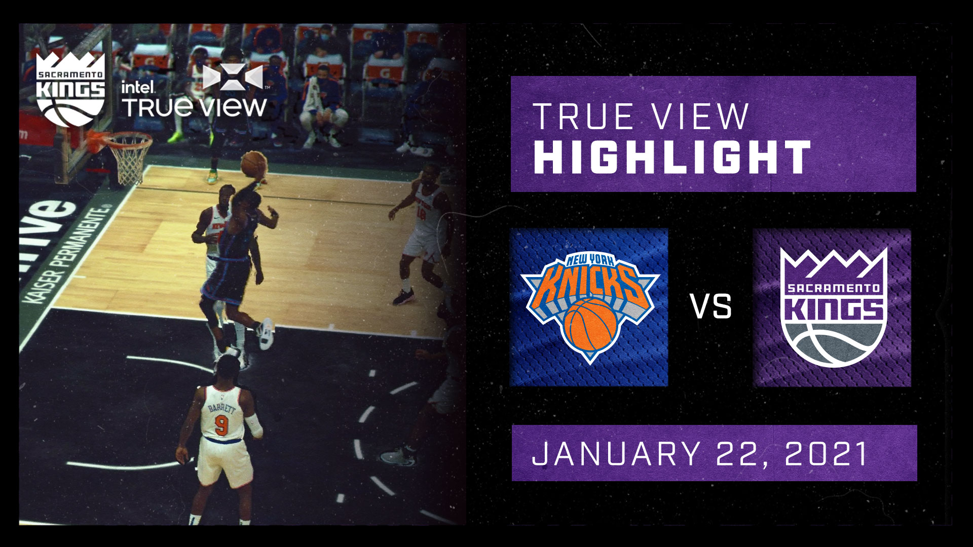 Intel True View Highlight - Fox Dunk vs Knicks 1.22.21