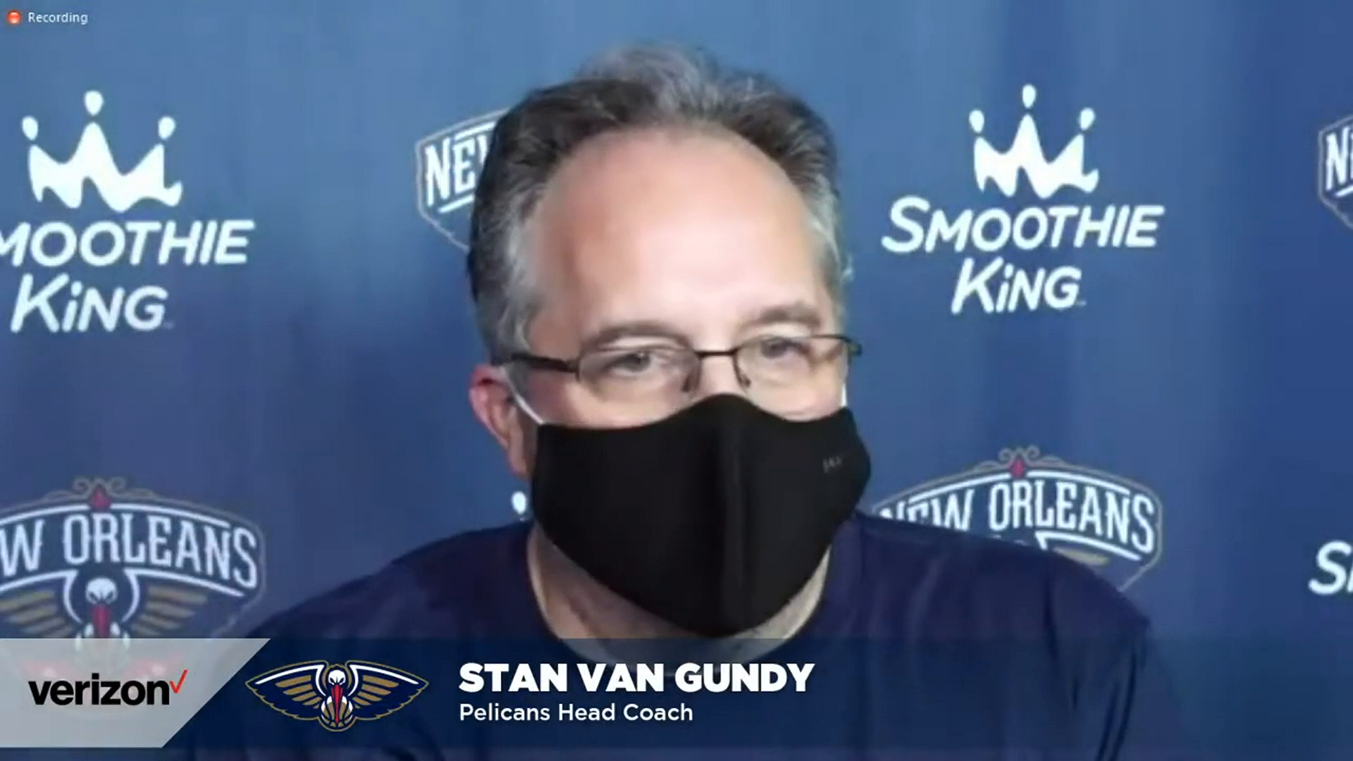 Stan Van Gundy on the passing of Sekou Smith | Pelicans Post-Practice 1/26/21
