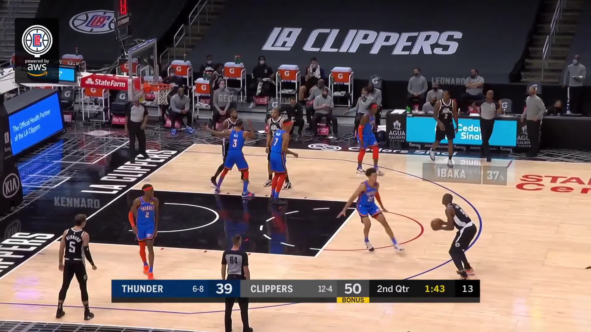 Clippers CourtVision Powered by AWS | Clippers vs Thunder | (1.24.21)
