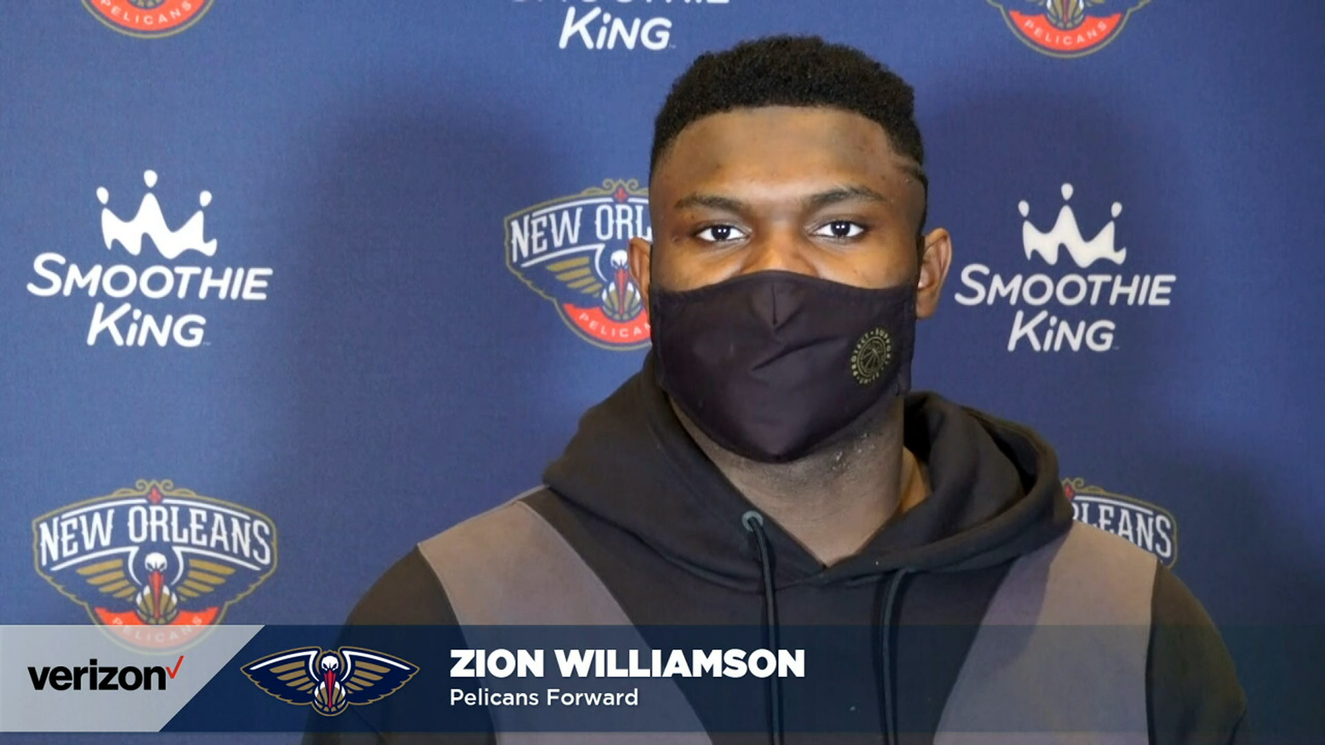 Pelicans-Wizards Postgame Interview: Zion Williamson 1-27-21