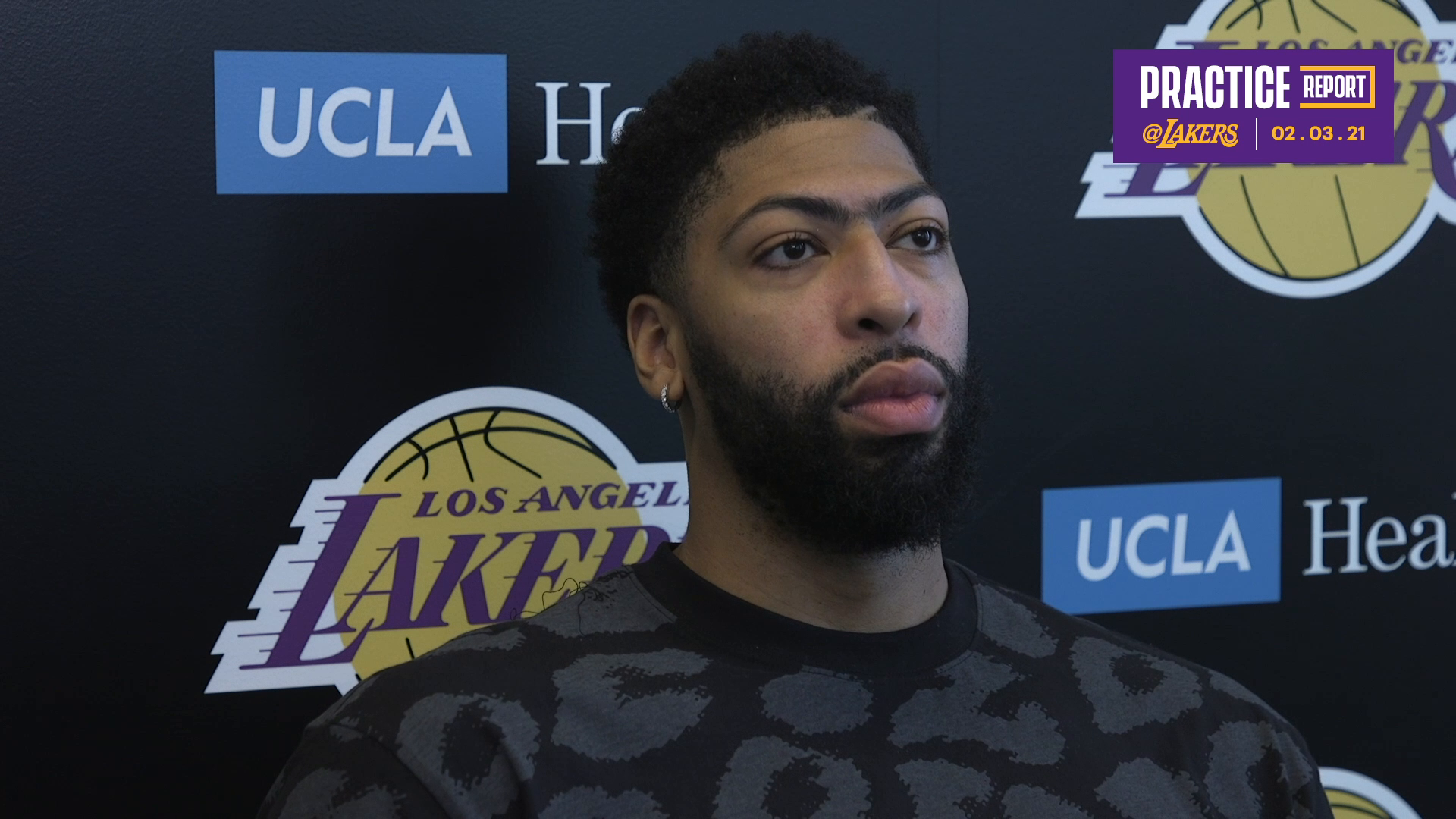 Practice Report: Anthony Davis (02/03/21)
