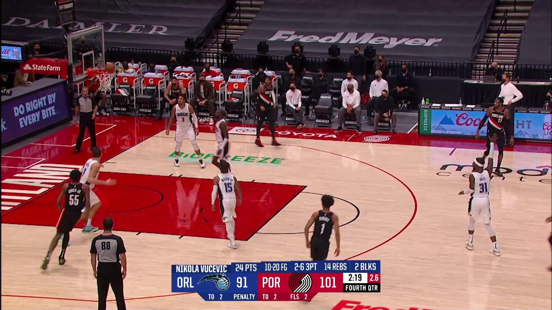 Trail Blazers 106, Magic 97 | Game Highlights by McDelivery