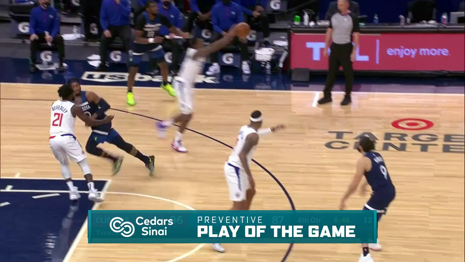 Cedars-Sinai Preventive Play of the Game | Clippers vs Timberwolves (2.10.21)