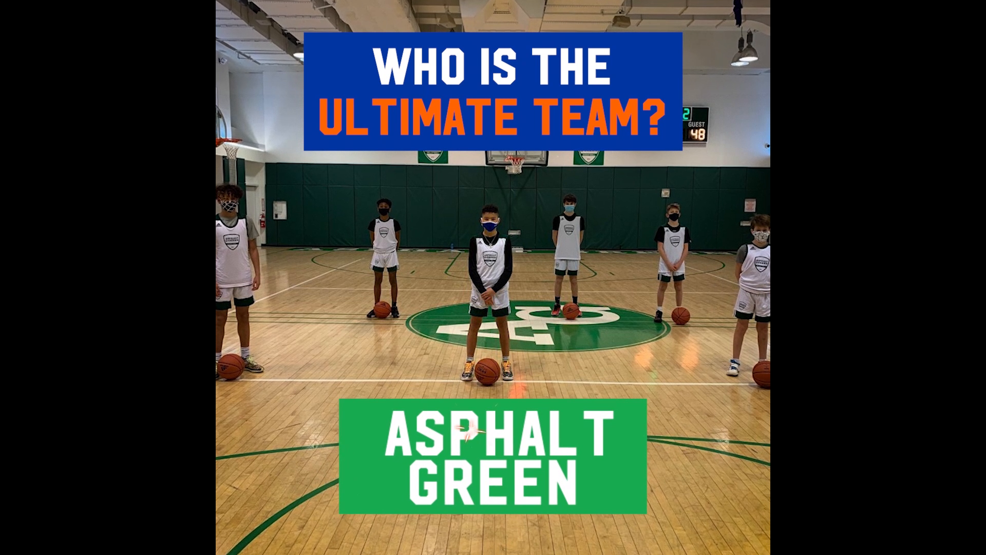 THE JR. KNICKS ARE PROUD TO ANNOUNCE THE WINNER OF THE ULTIMATE TEAM CONTEST: NEW YORK'S OWN, ASPHALT GREEN!