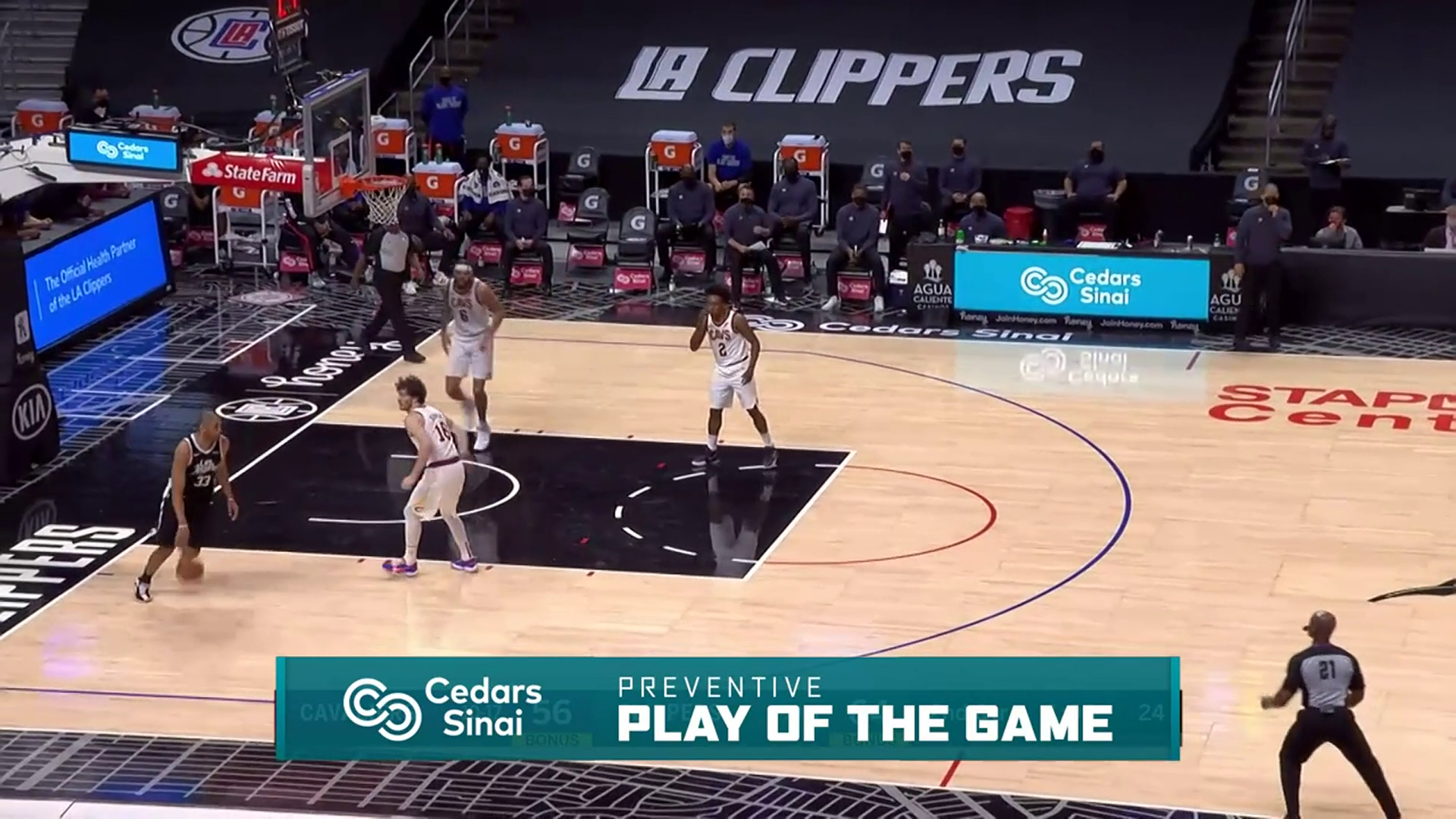 Cedars-Sinai Preventive Play of the Game | Clippers vs Cavaliers (2.14.21)