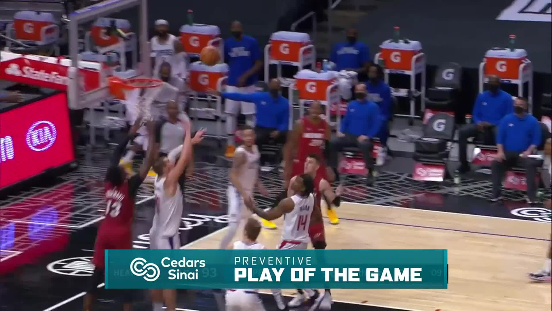 Cedars-Sinai Preventive Play of the Game | Clippers vs Heat (2.15.21)