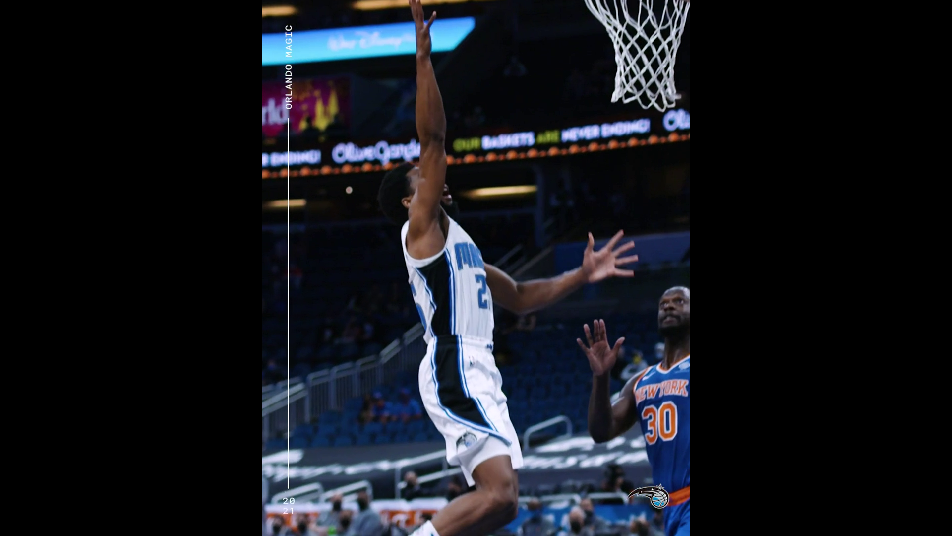 Chasson Randle's First Points with the Magic