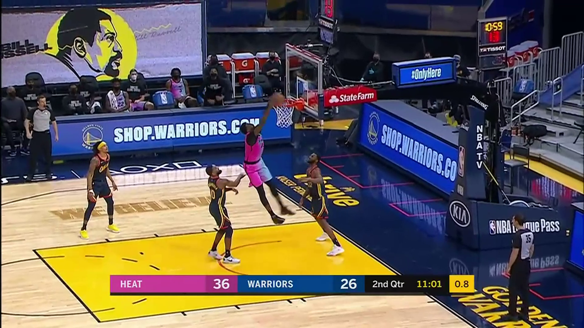 Bam Scores 24 & Dishes Out Seven Dimes