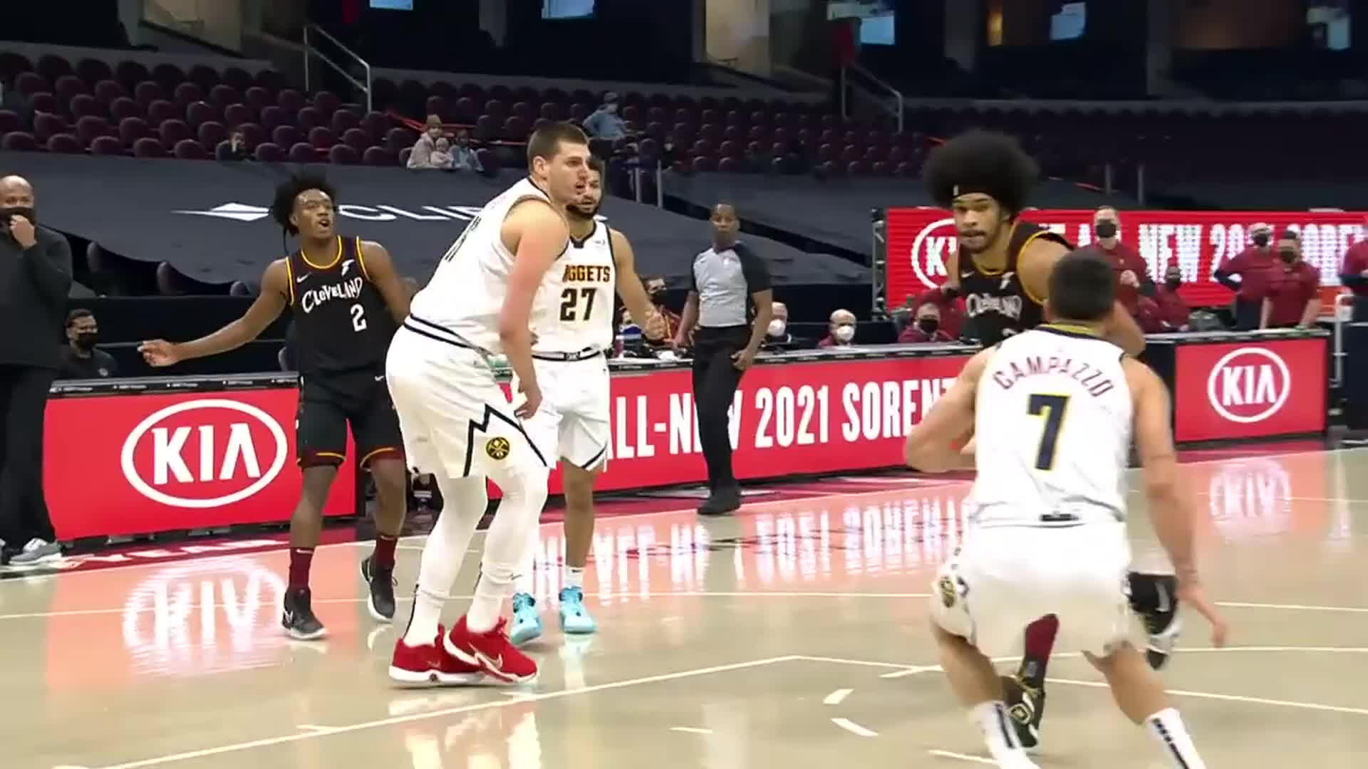 Sexton Finds Allen who Skies for the Dunk