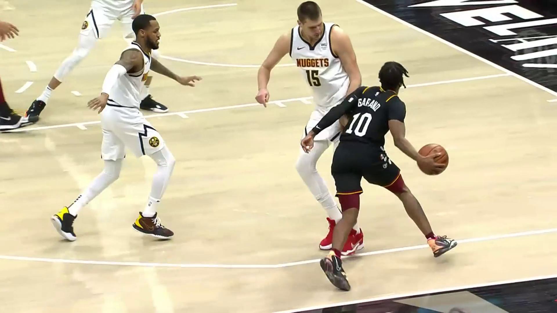 Garland Fires Pass Inside to Okoro