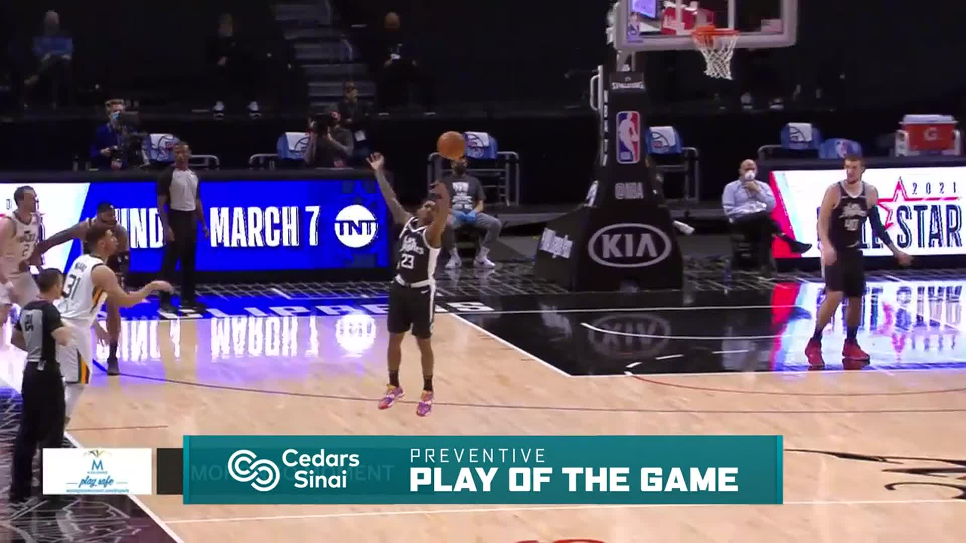 Cedars-Sinai Preventive Play of the Game | Clippers vs Jazz (2.19.21)