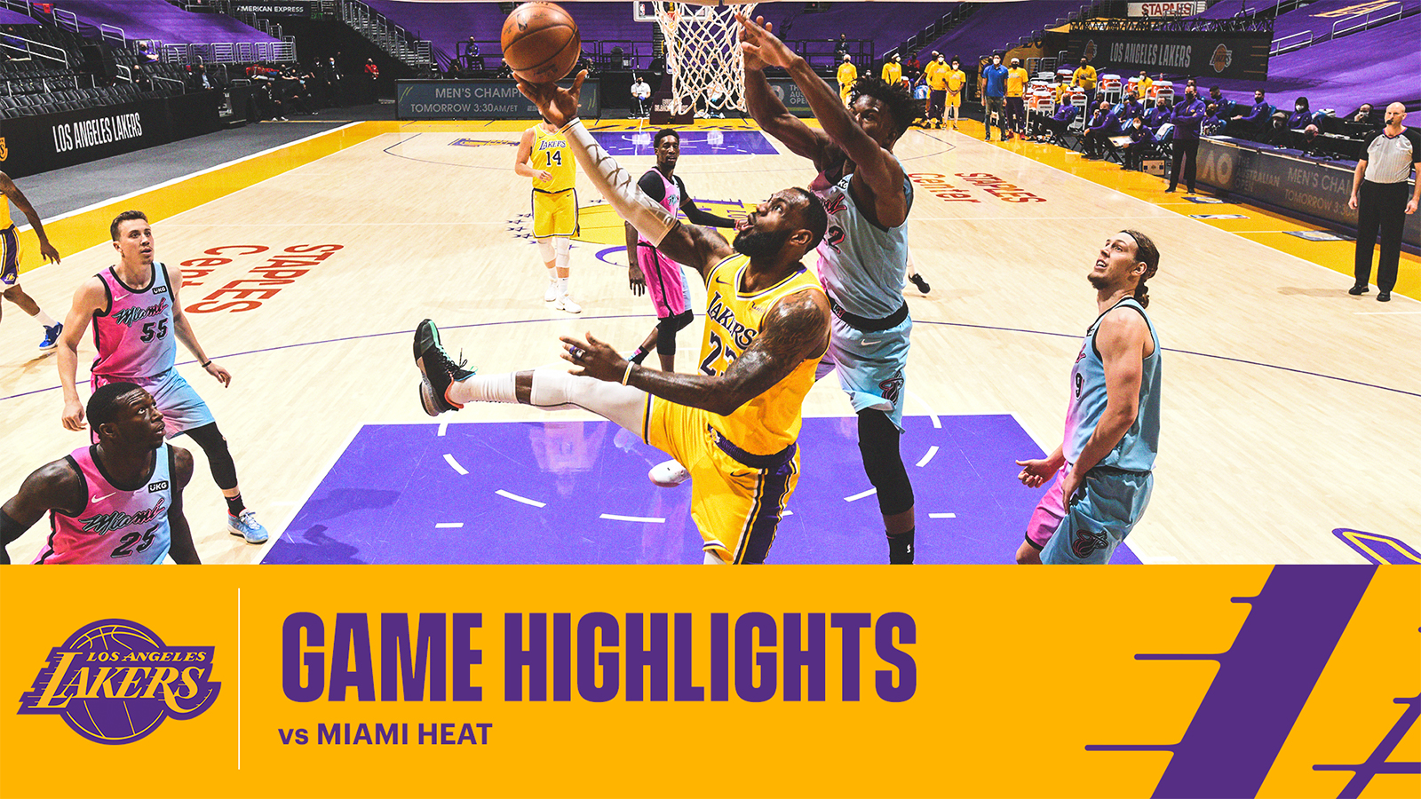 HIGHLIGHTS | LeBron James (19 pts, 9 reb, 9 ast) vs Miami Heat