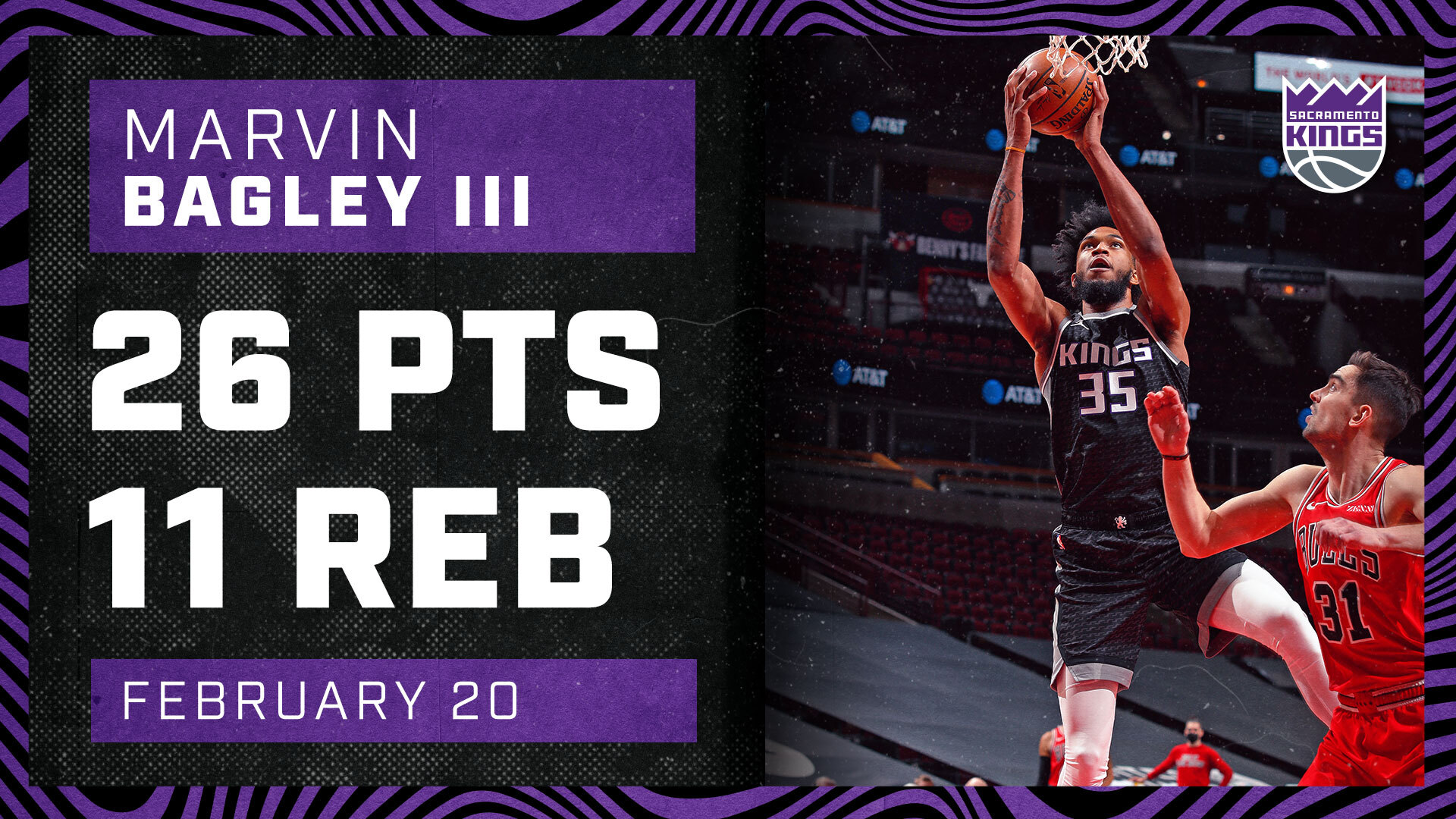 MBIII Ties Season-High Mark in Chicago! | Kings vs Bulls 2.20.21