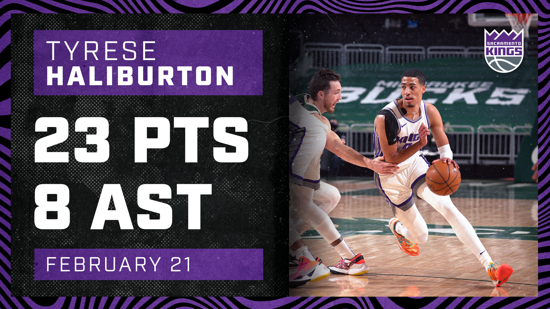 Tyrese Haliburton Shows Range Against MIL | Kings vs Bucks 2.21.21