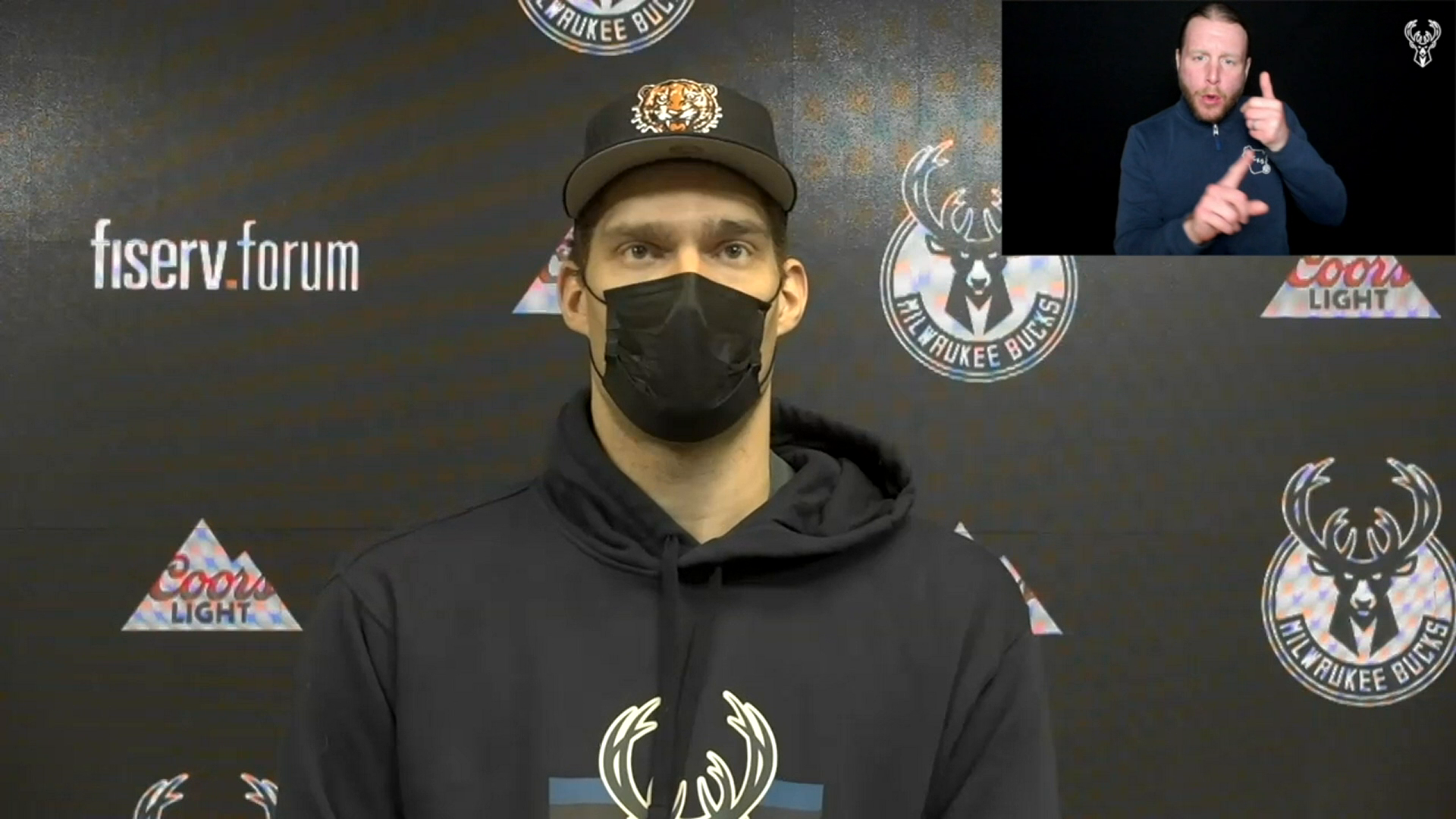 Brook Lopez ASL Press Conference | 2.19.21