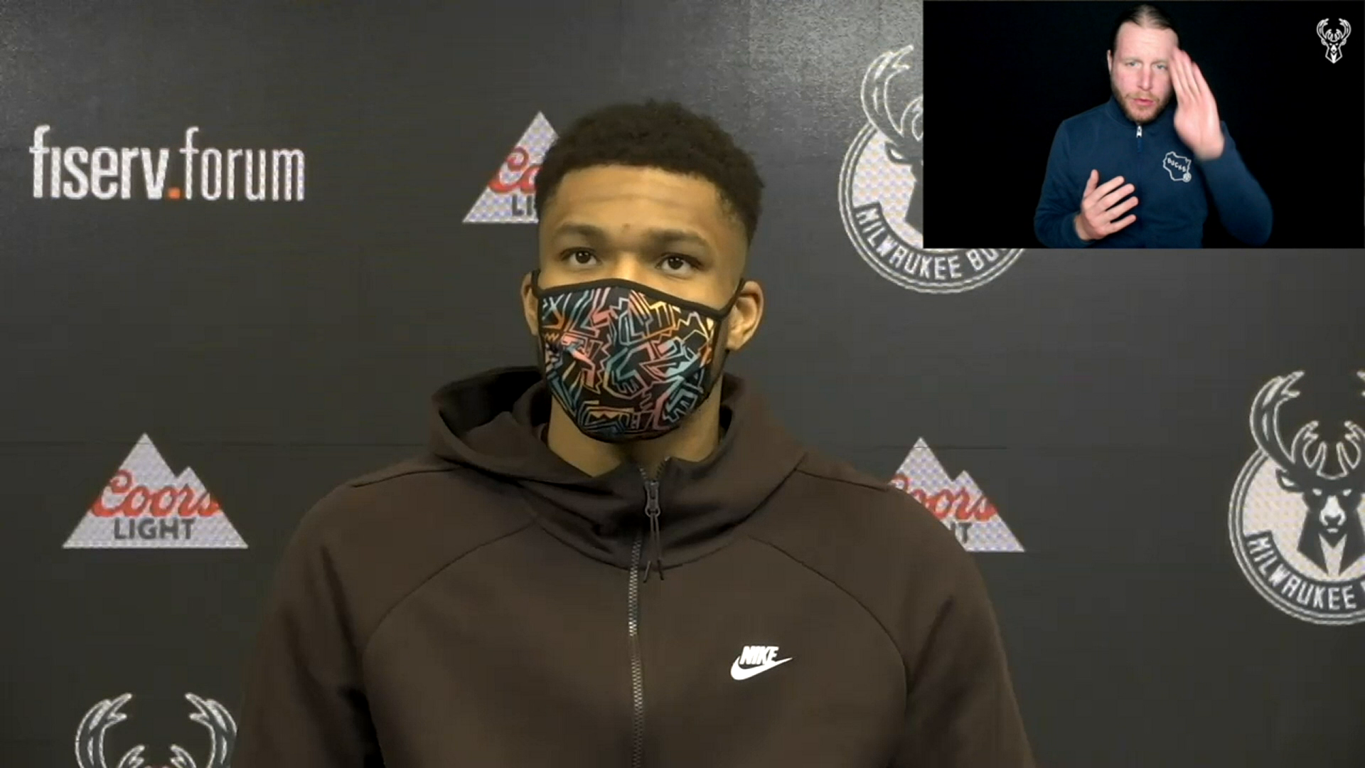 Giannis Antetokounmpo ASL Press Conference | 2.19.21